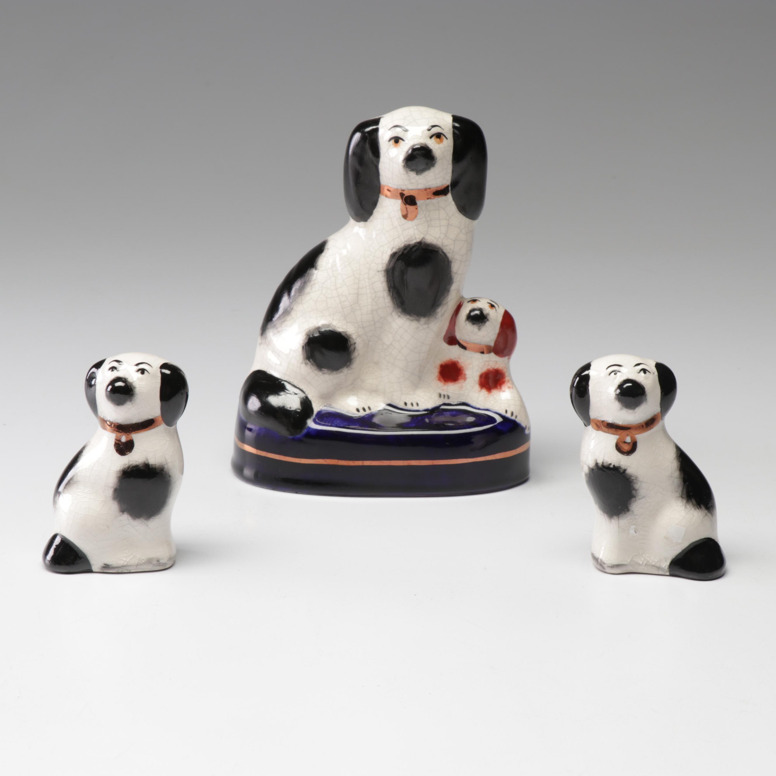 Staffordshire Ware Ceramic Cavalier King Charles Spaniels