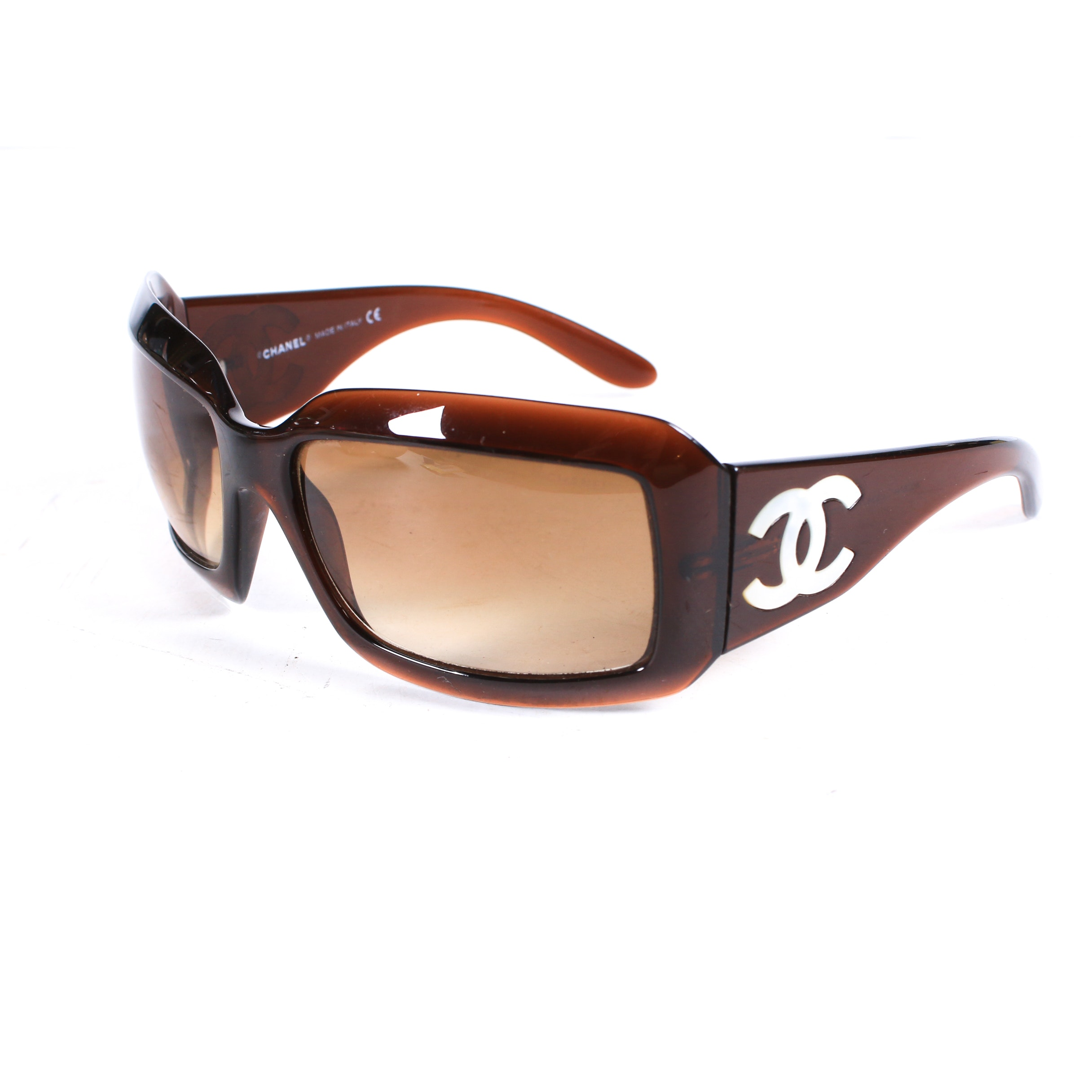 Chanel 5076-H Brown and Mother-of-Pearl CC Sunglasses