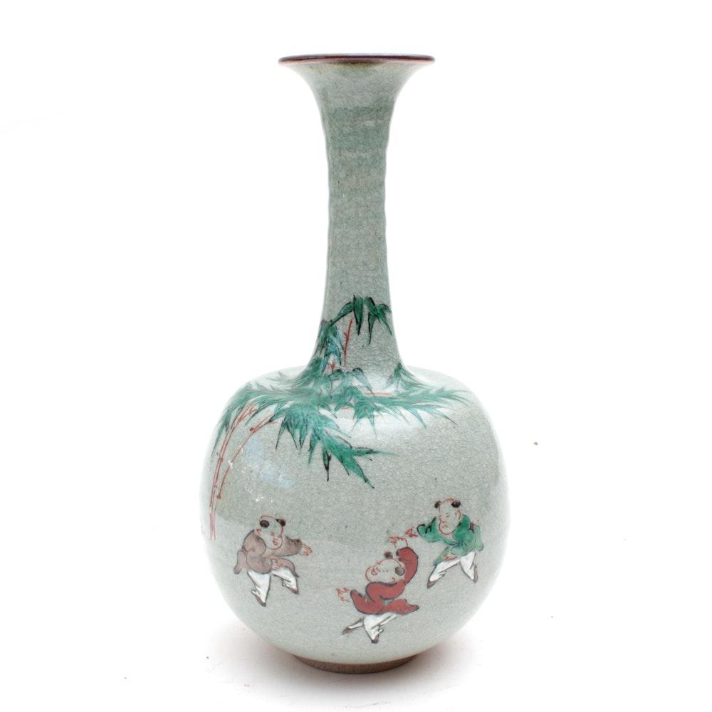 East Asian Ceramic Vase