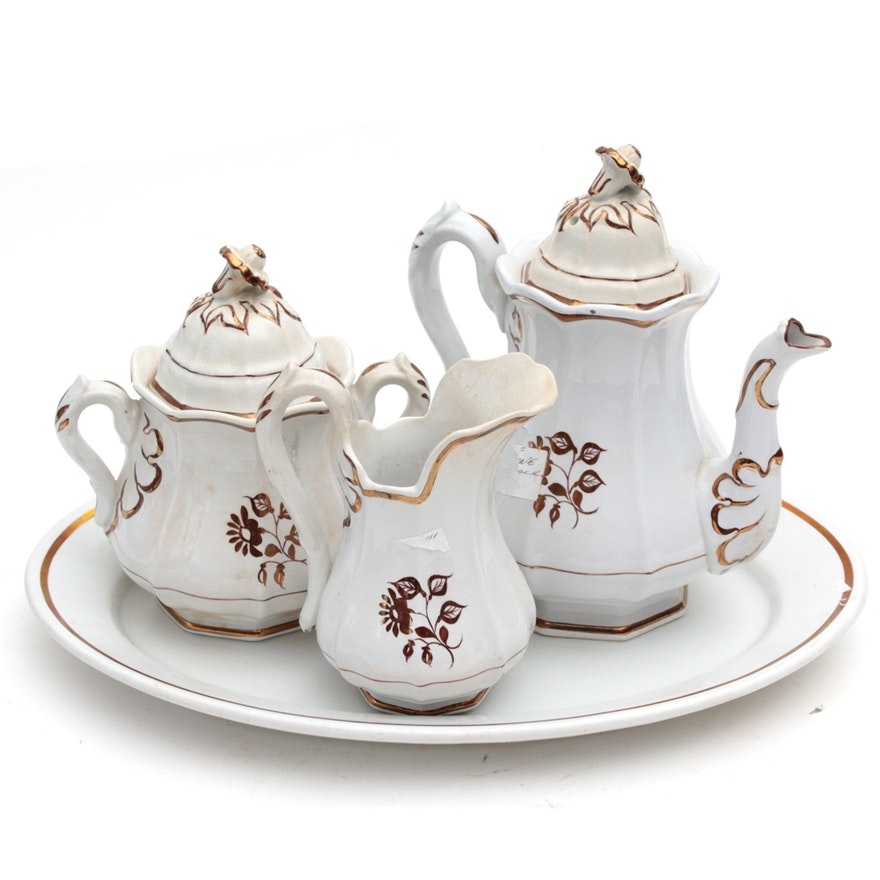 "Alfred Meakin Ironstone ""Tea Leaf"" Tea Service"