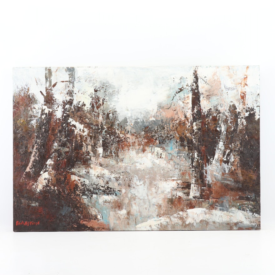 Barton Abstract Landscape Oil Painting