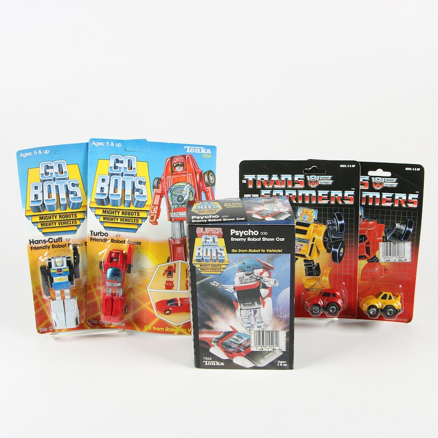 Transformers and Super Go Bots Toy Cars, 1980s