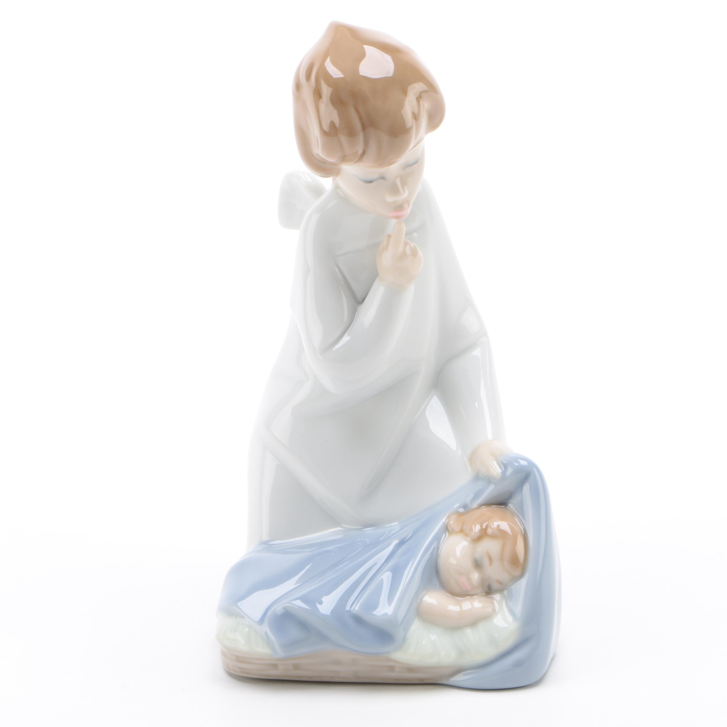 "Lladró ""Angel with Baby"" Porcelain Figurine, Late 20th Century"
