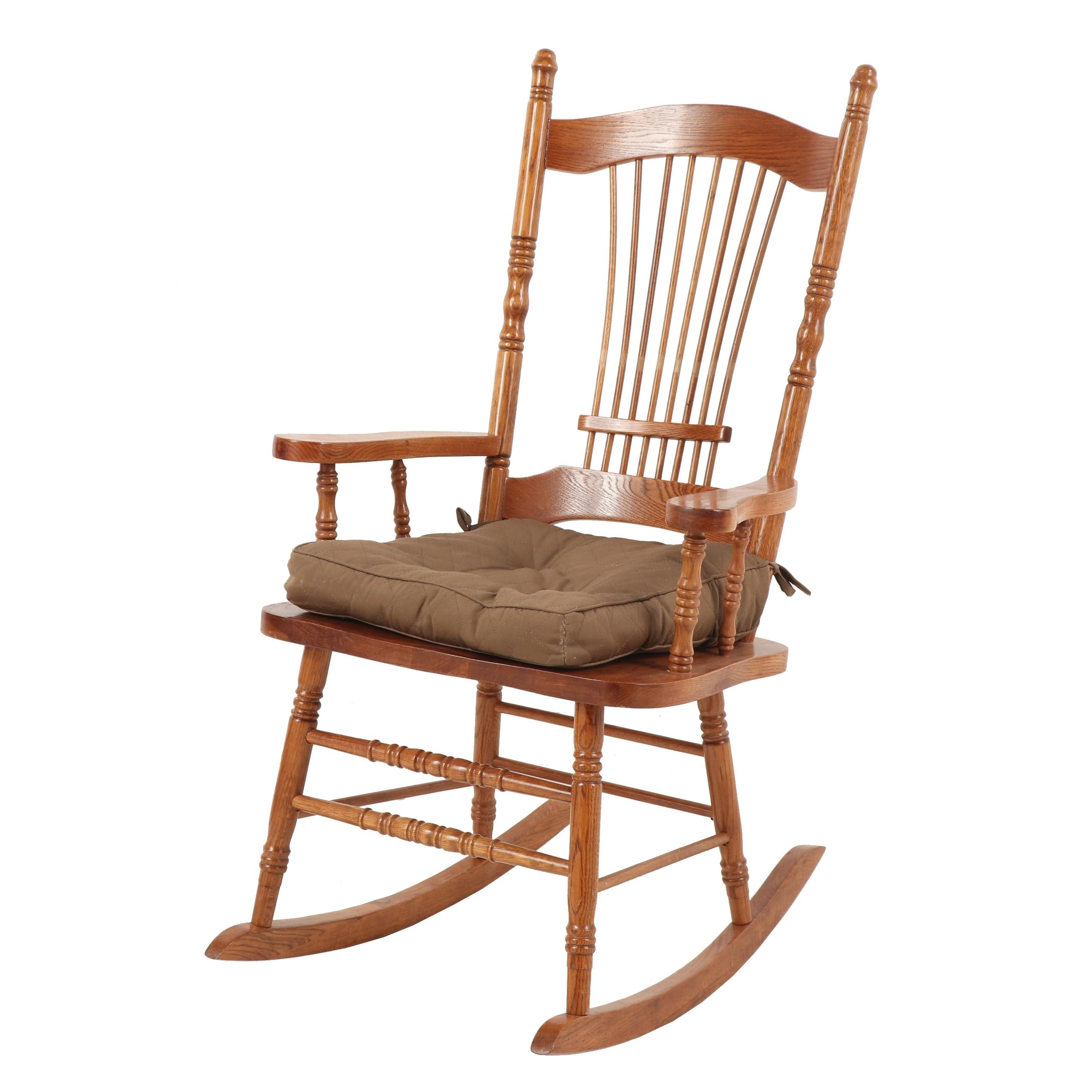 Oak Rocking Chair, Mid to Late 20th Century