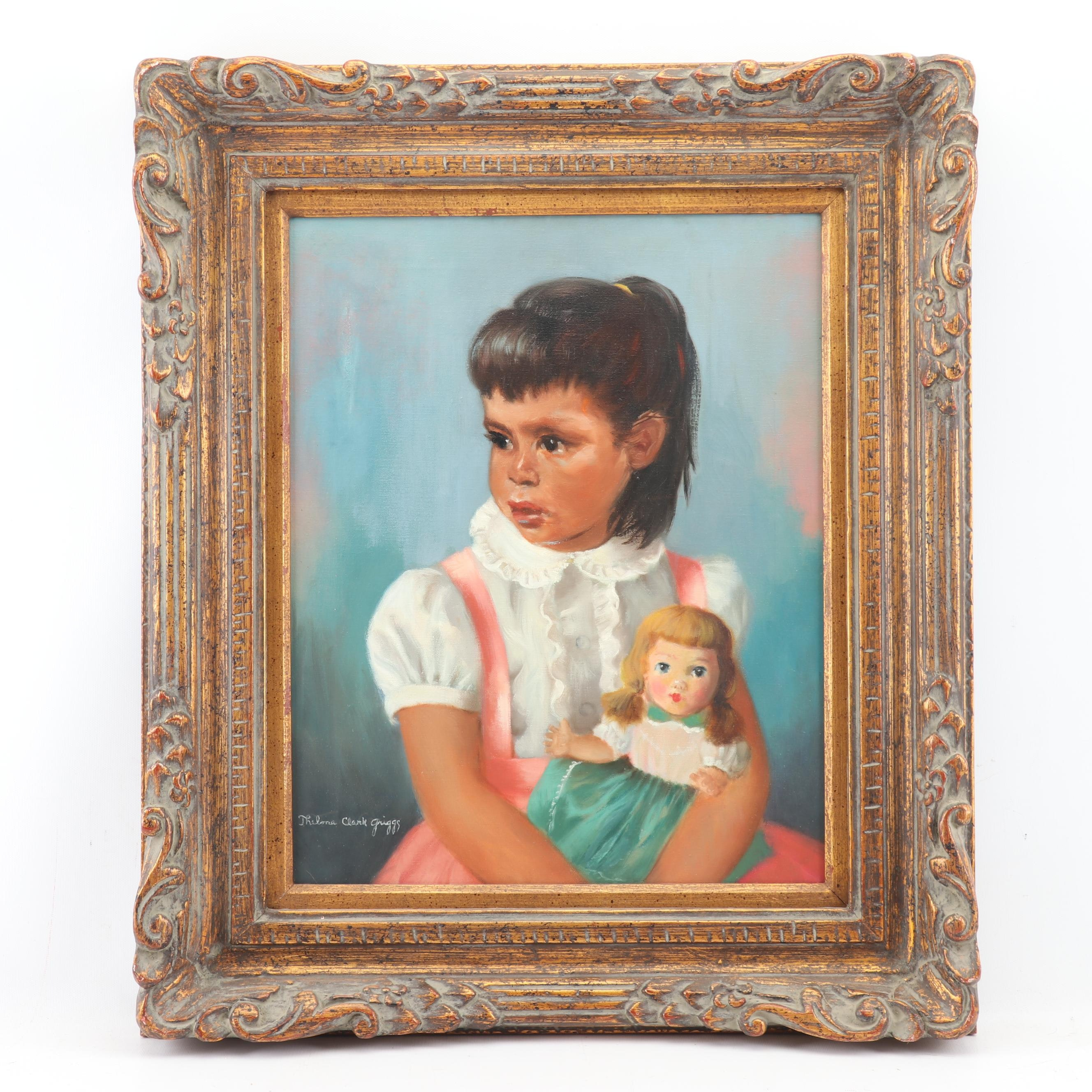 Thelma Clark Griggs Portrait Oil Painting