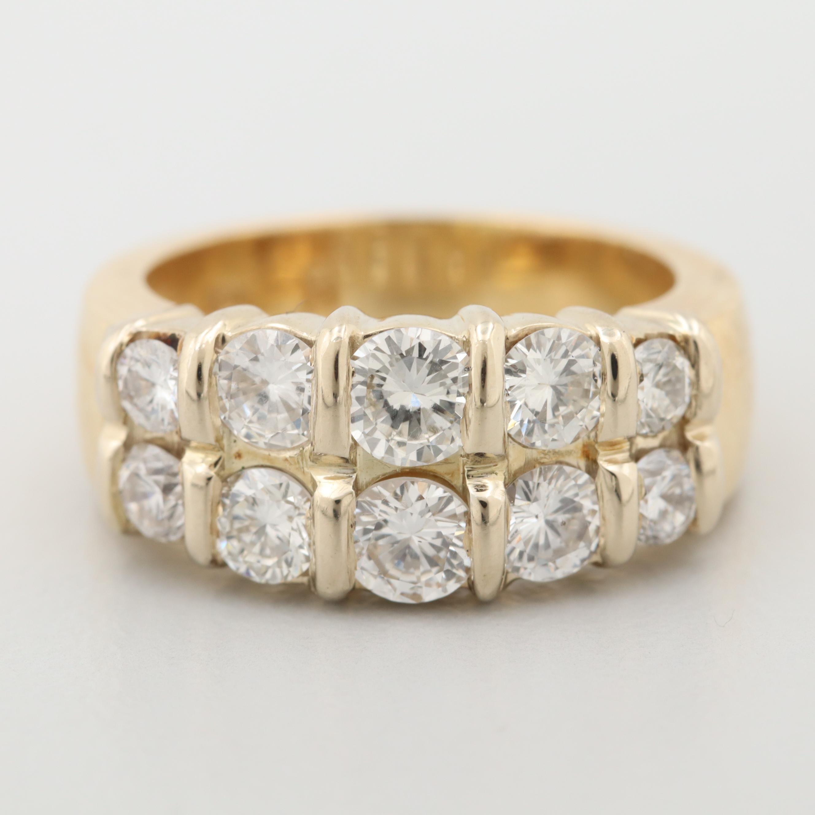18K Yellow Gold 1.50 CTW Diamond Ring