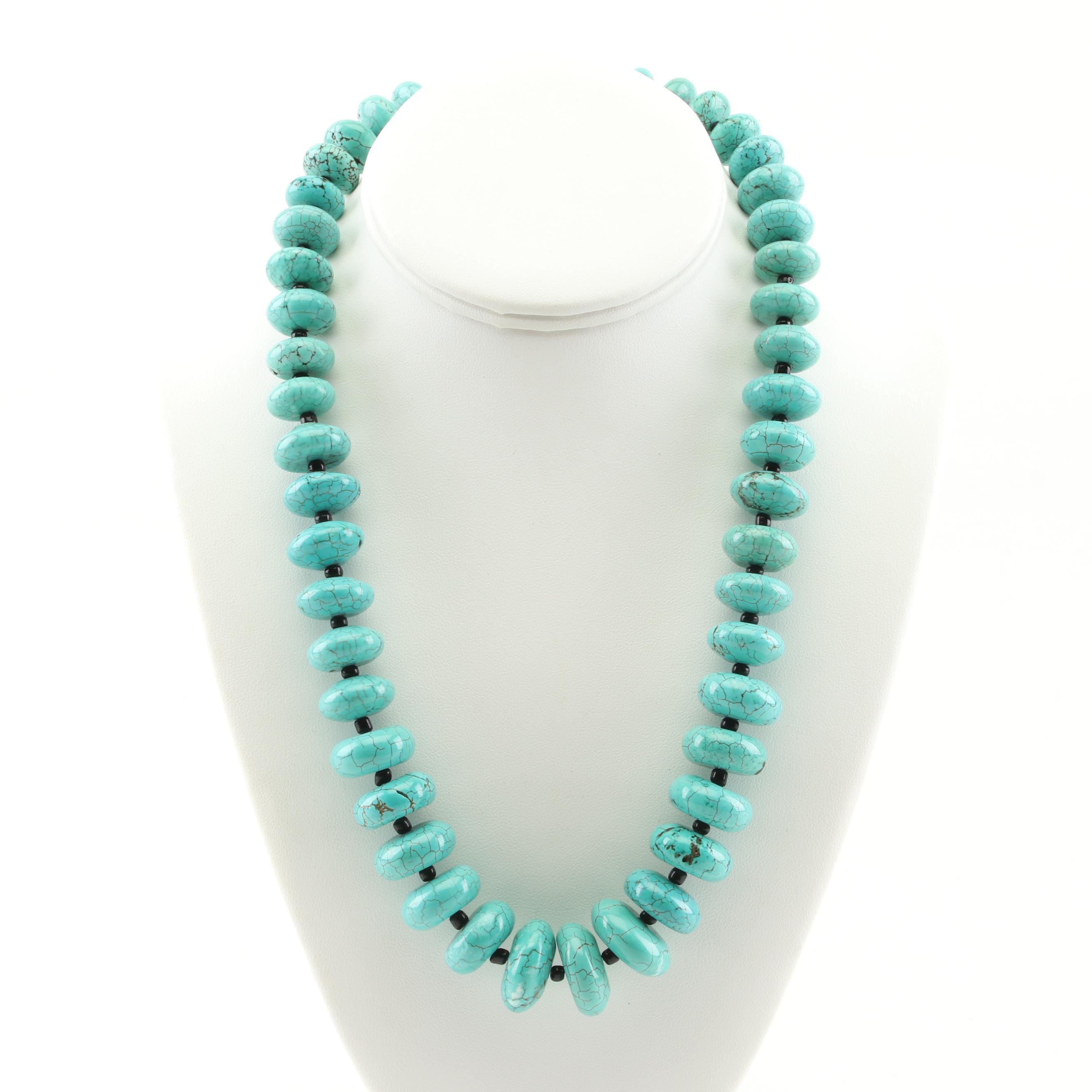 Silver Tone Turquoise Necklace