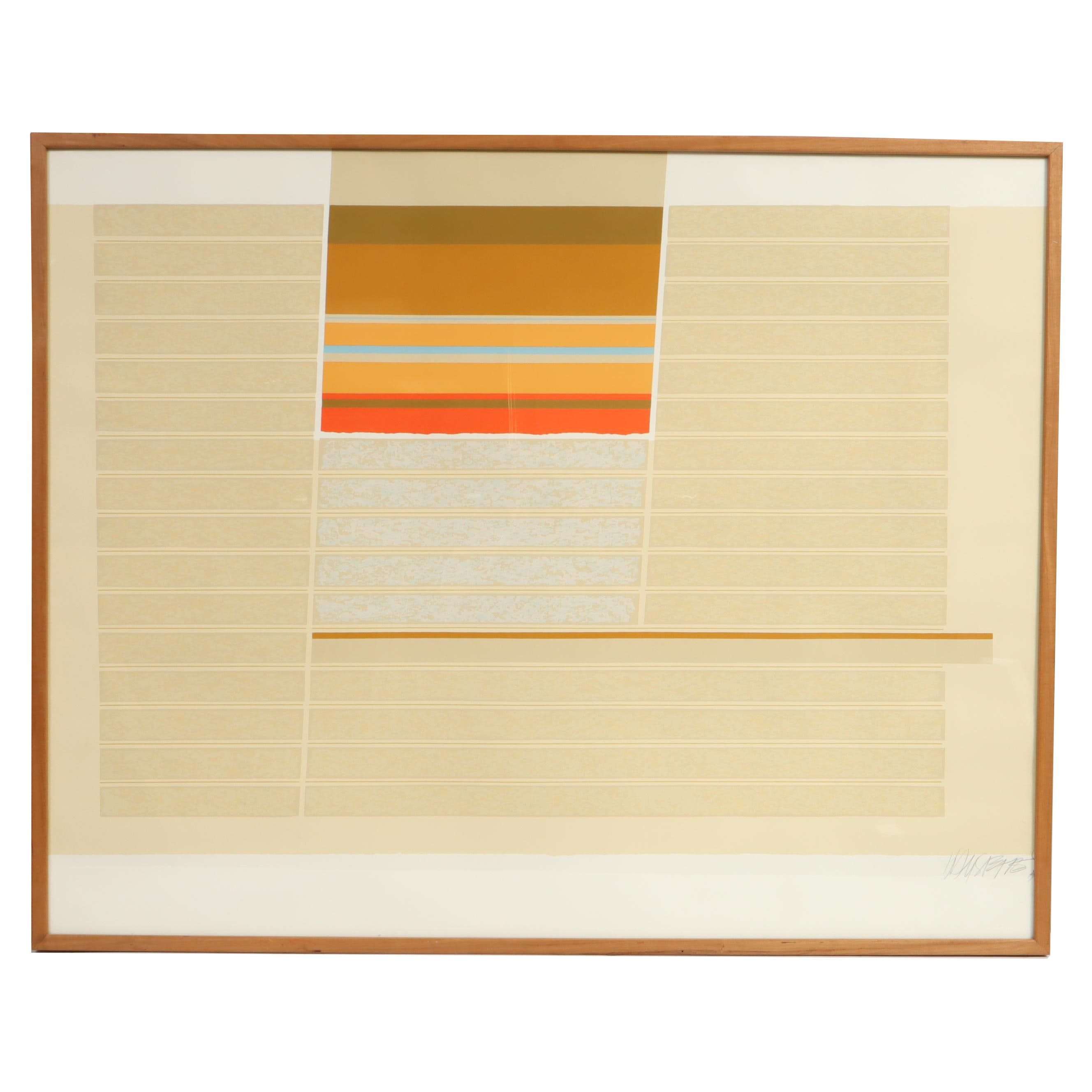 Max Hayslette Abstract Serigraph, Mid 20th Century