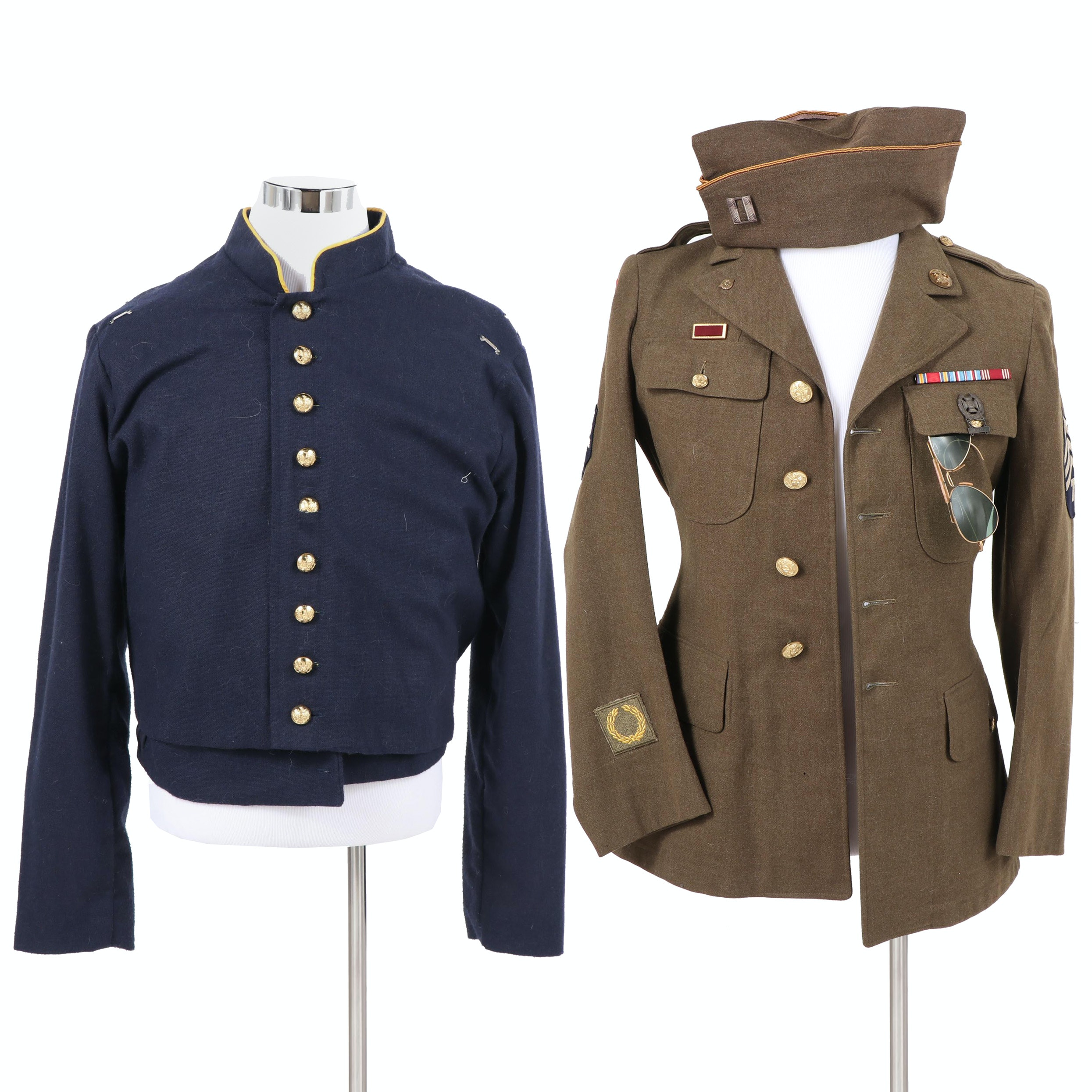 Reproduction Civil War Era Cavalry Shell Jacket and WWII US Army Officer Jacket