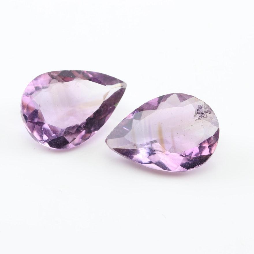 Loose 7.85 CTW Amethyst Gemstones