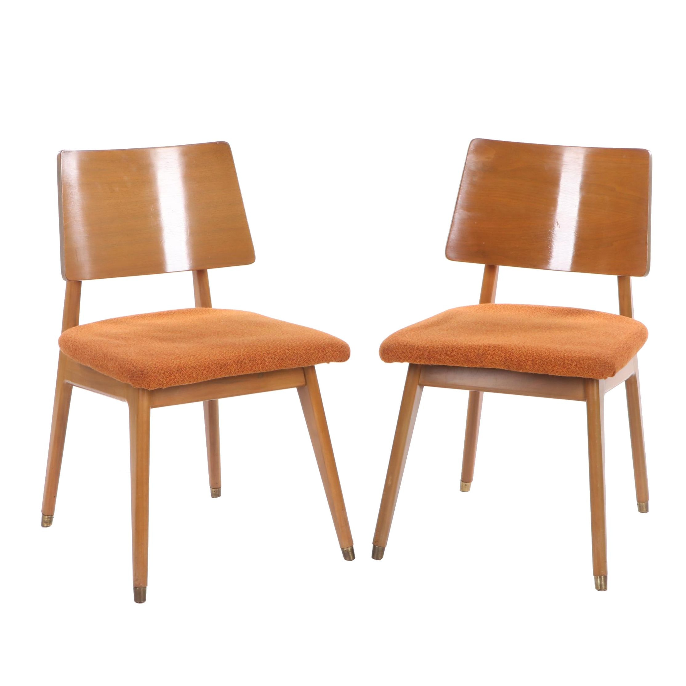 Pair of Mid Century Modern Maple Side Chairs