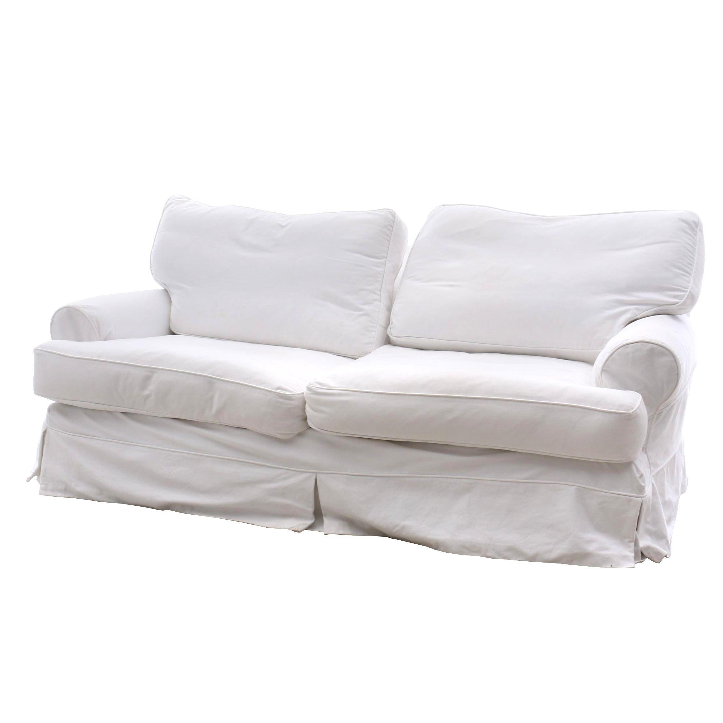 Rachel Ashwell Shabby Chic Slipcovered Loveseat Sofa
