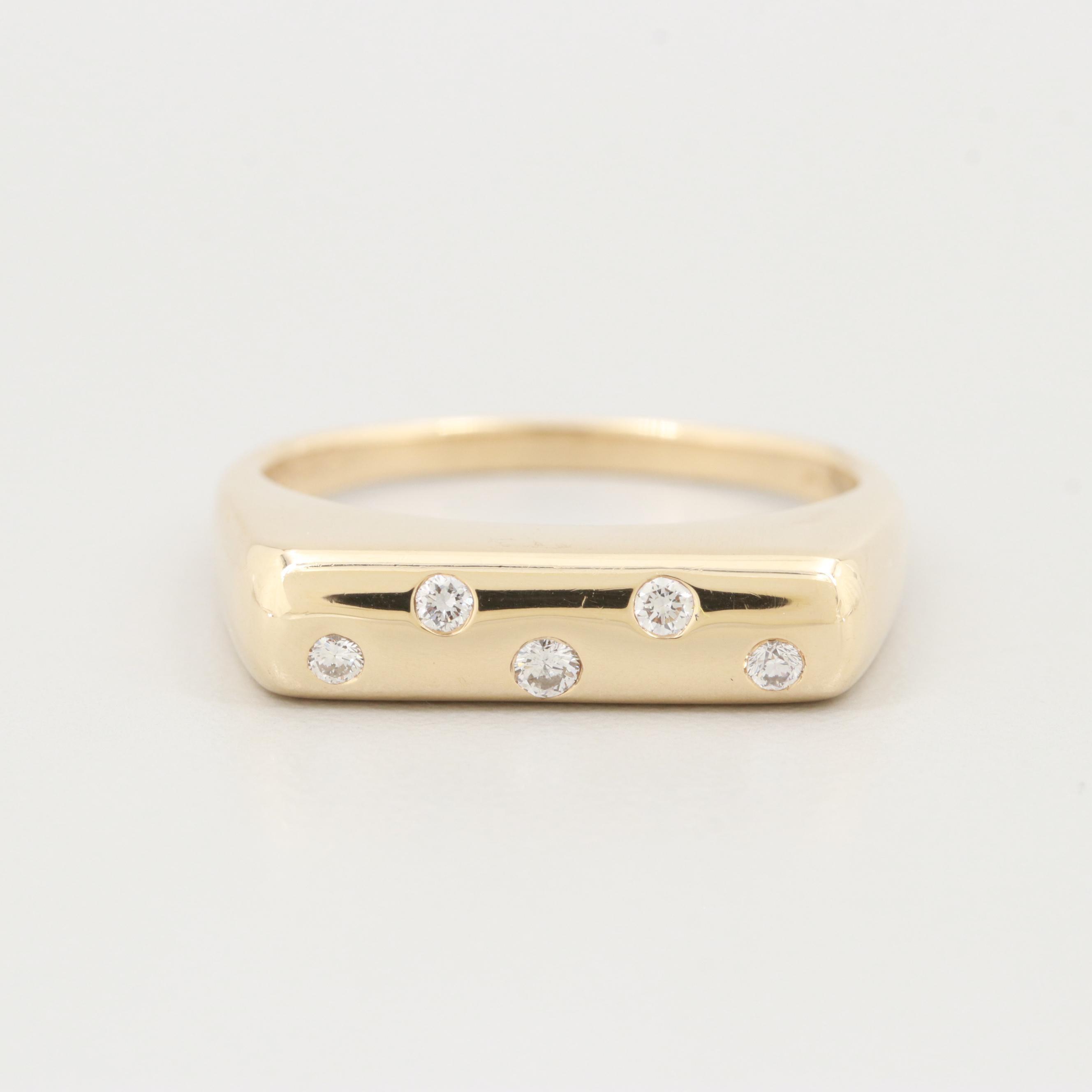 Sonia Bitton 14K Yellow Gold Diamond Ring