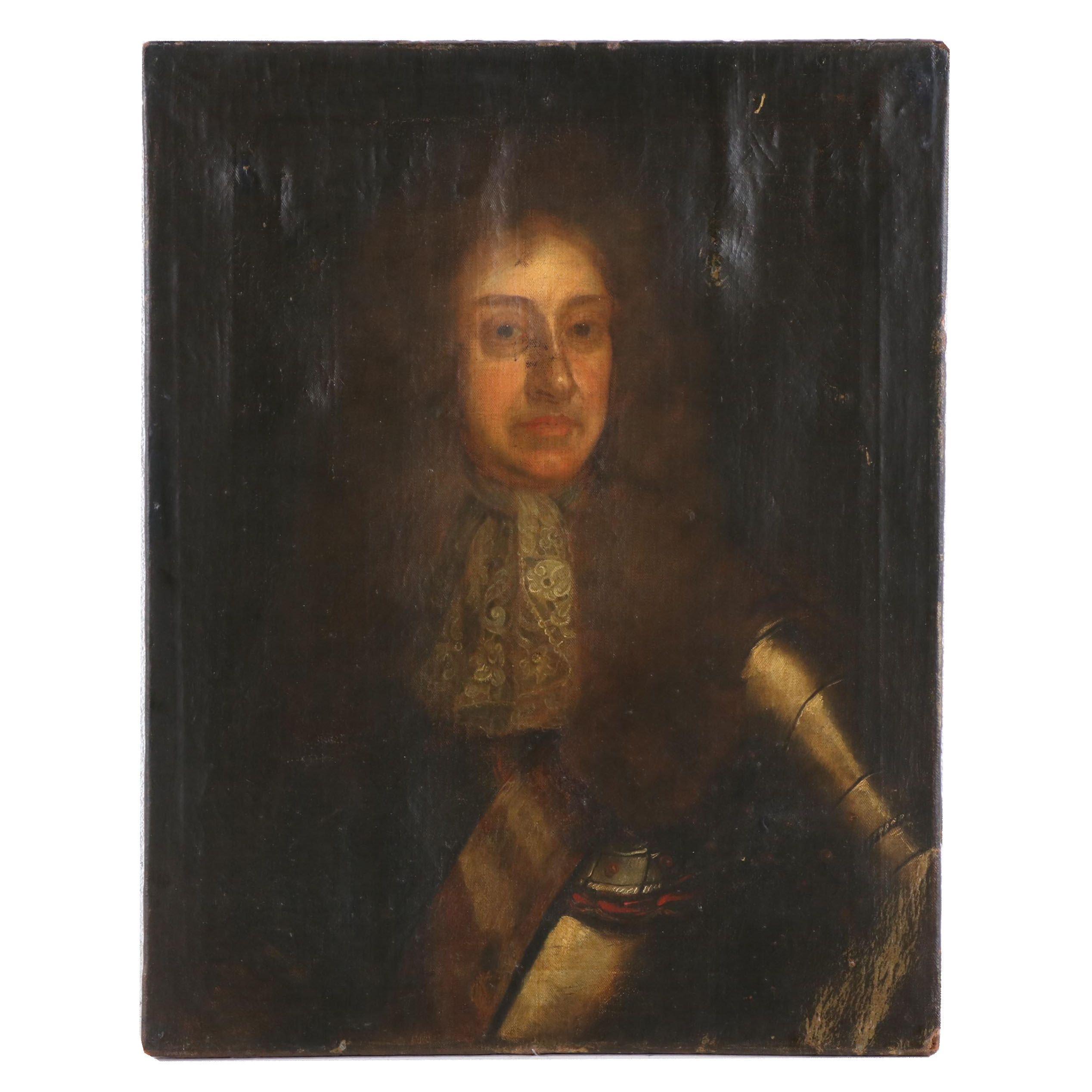 Copy Oil Portrait of King James II of England