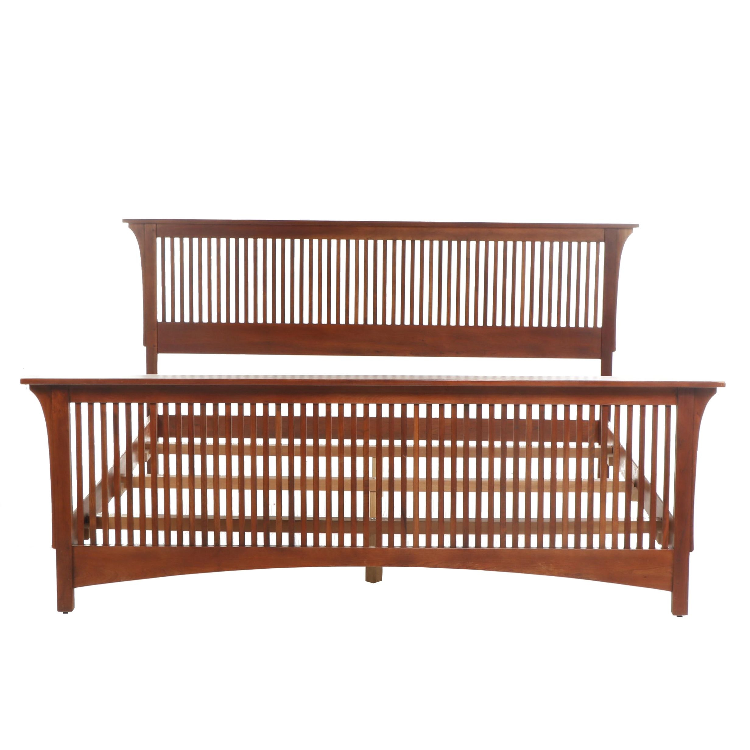 Contemporary Stickley Arts & Crafts Cherry Queen Size Bed