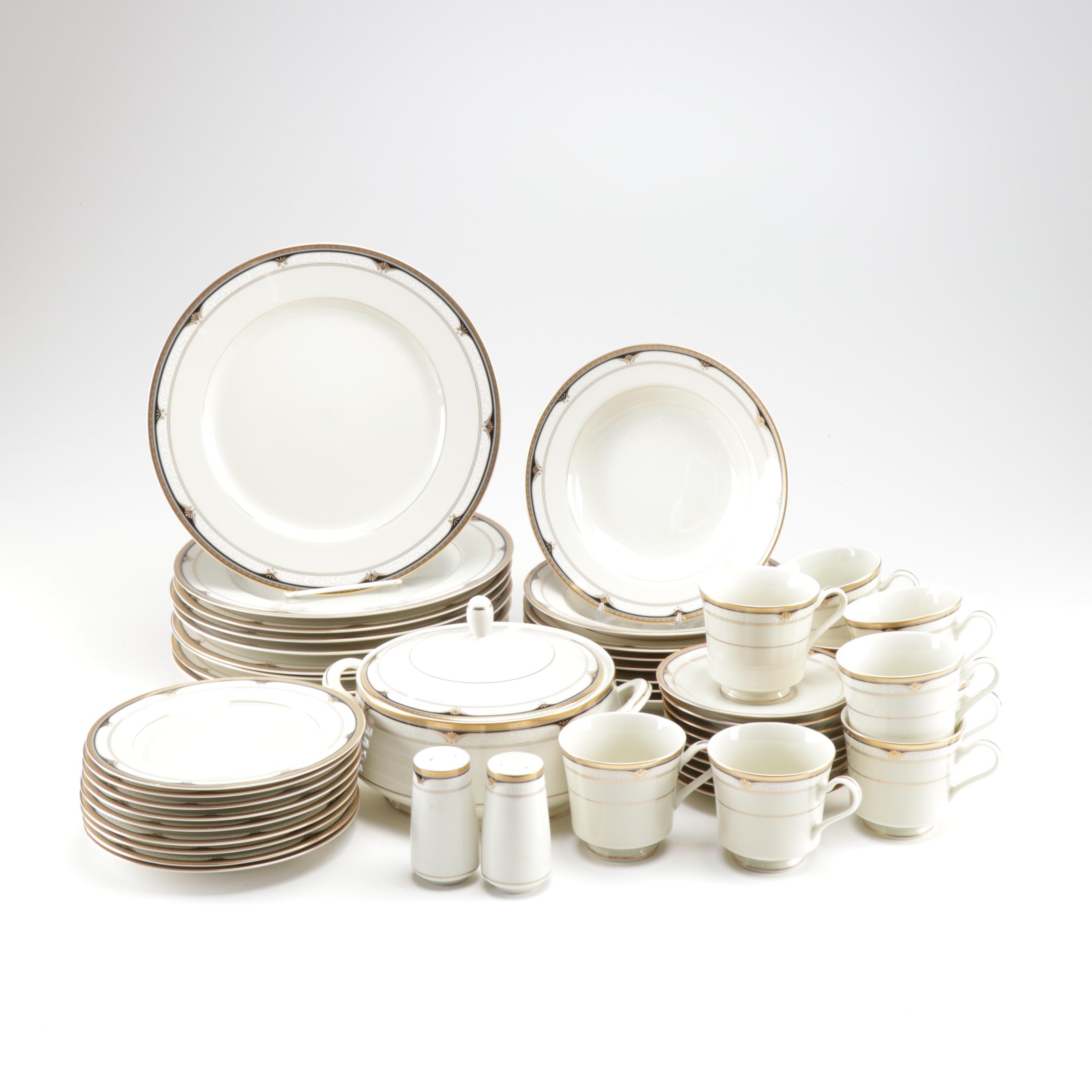 """Mikasa """"Golden Shell"""" Porcelain Dinnerware"""