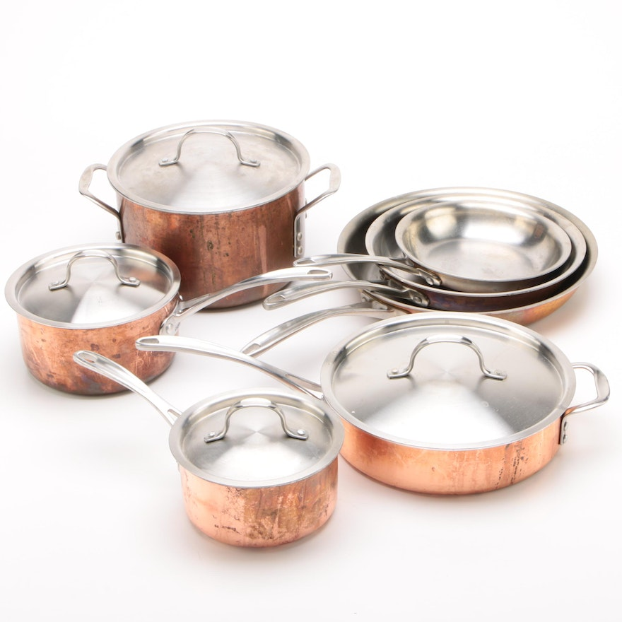Calphalon Copper Tri-Clad Stainless Steel Cookware
