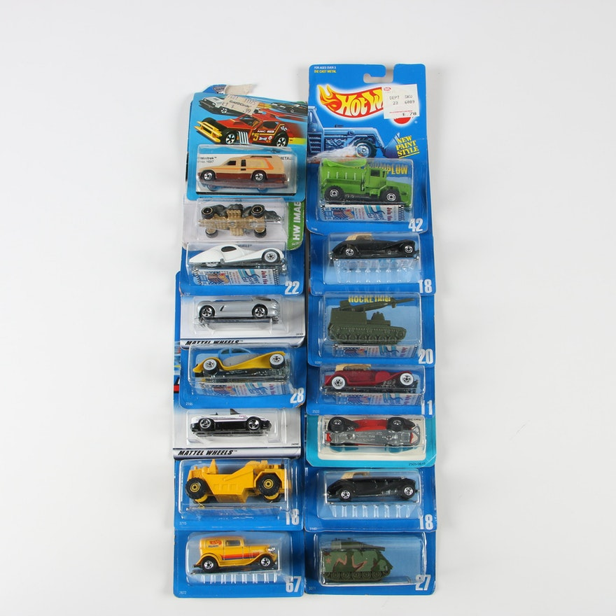 Vintage and Contemporary Hot Wheels Toy Cars