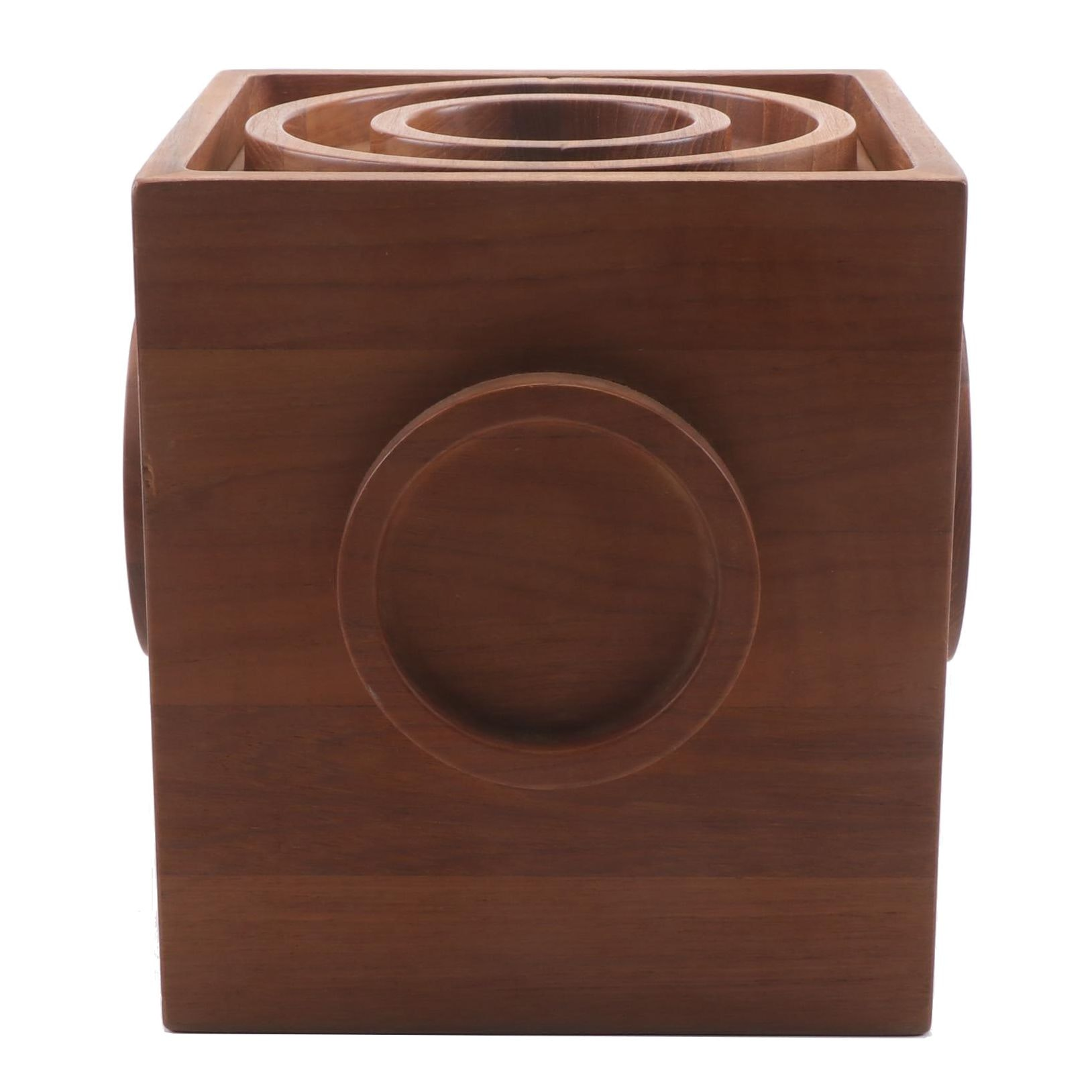 Danish Modern Dansk International Designs IHQ Teak Square Ice Bucket