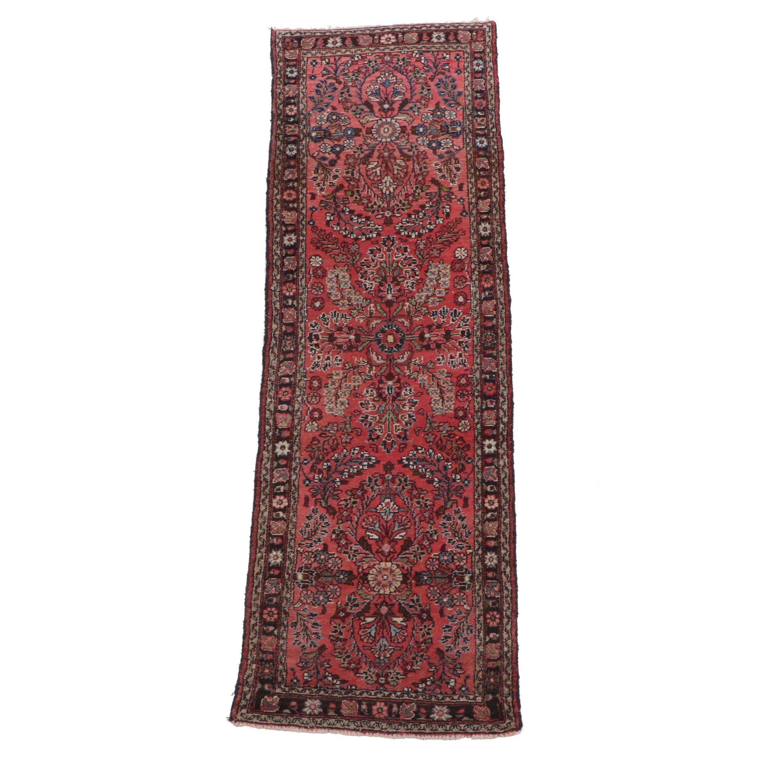 Hand-Knotted Persian Mehriban Wool Long Rug