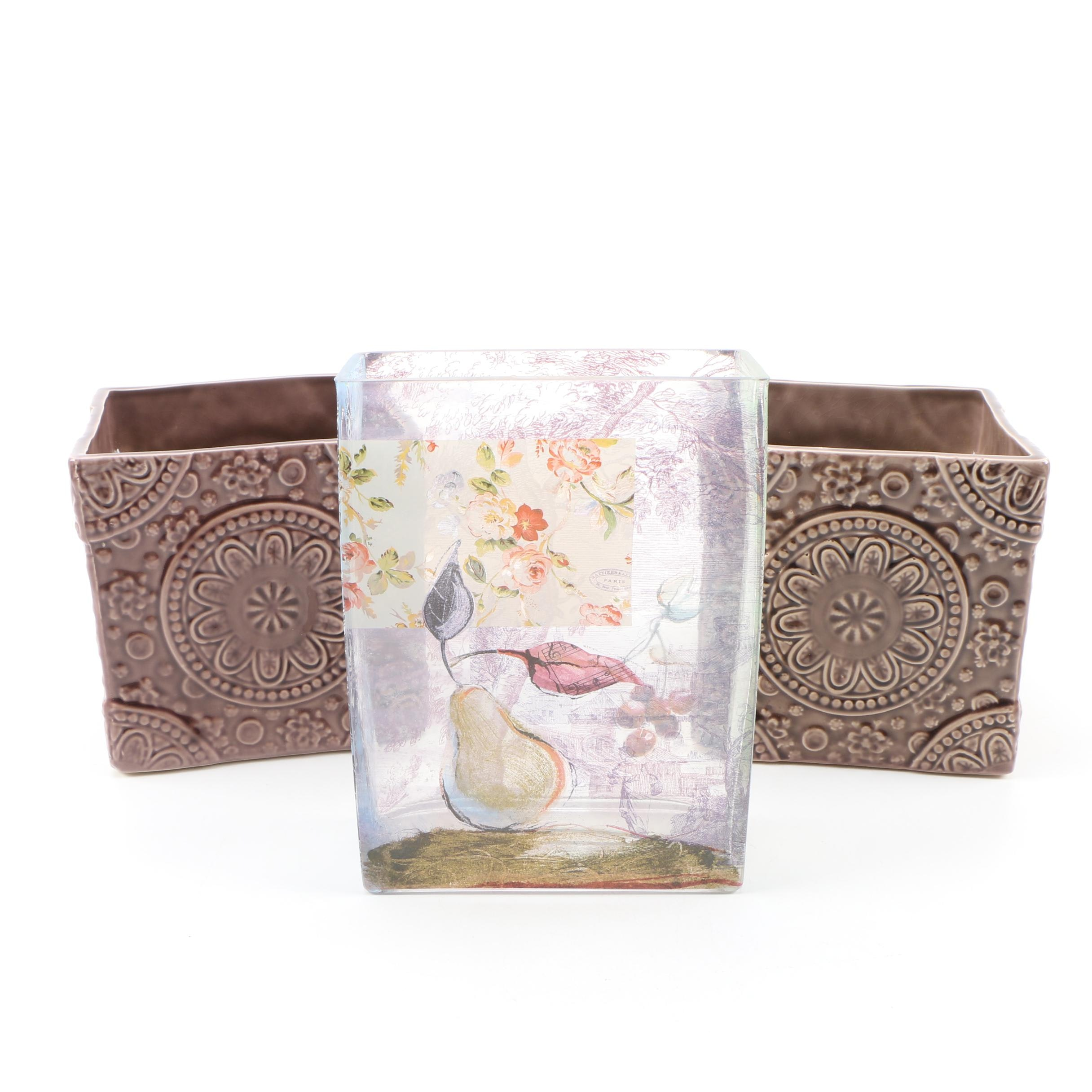 Contemporary Glass and Ceramic Vases