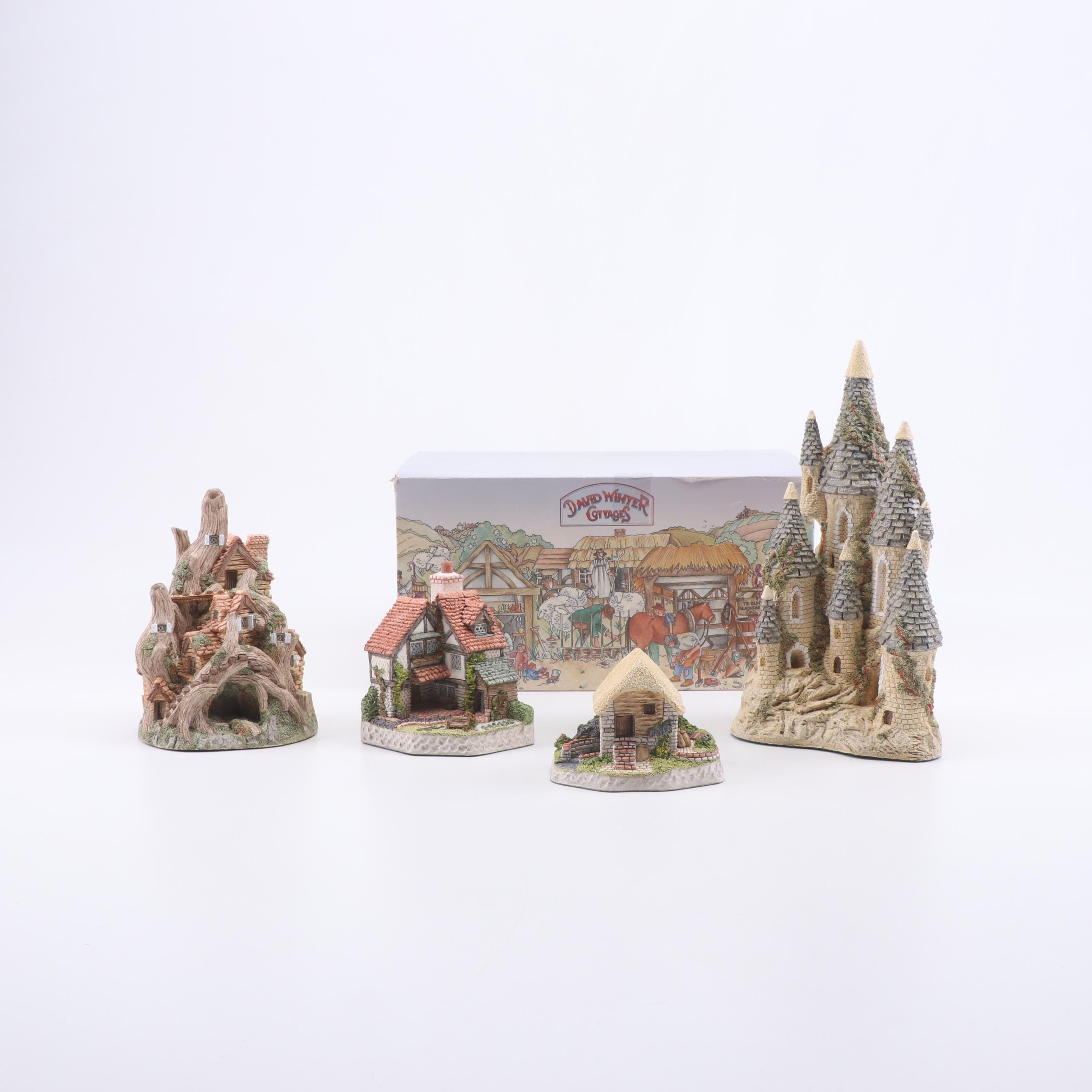 David Winter Plaster Collectible Cottages