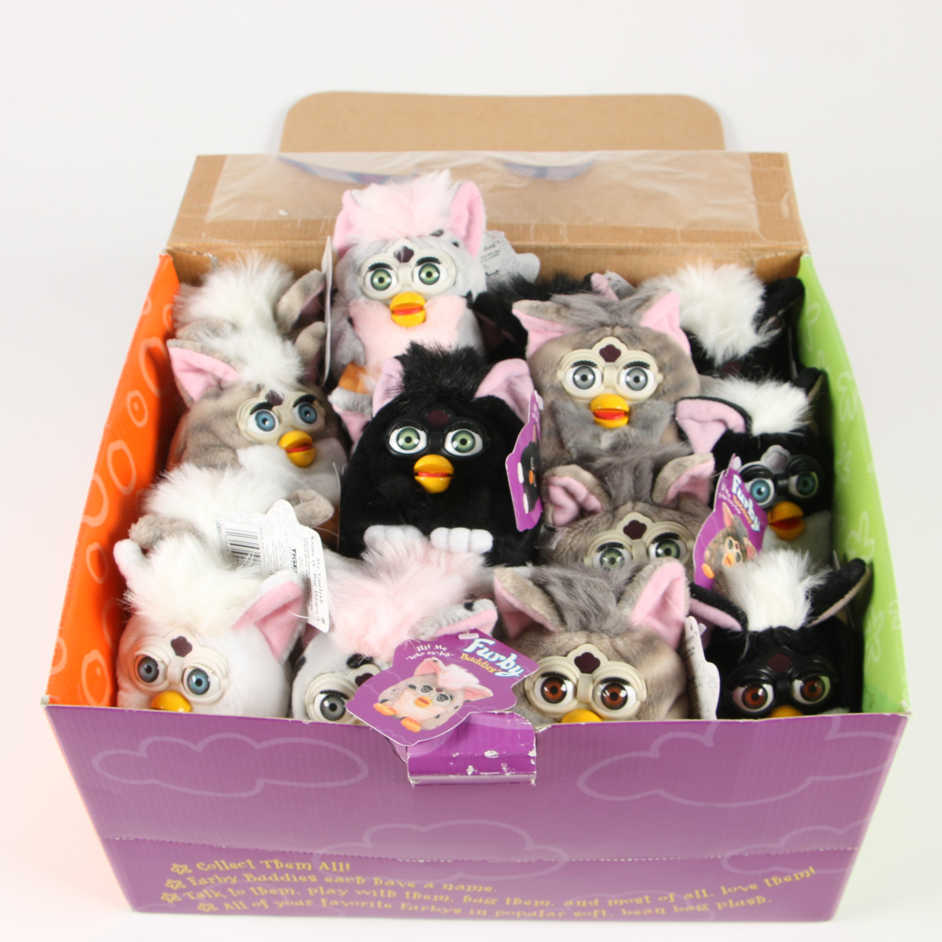 Stuffed Furby Buddies with Counter Display Box, 1999