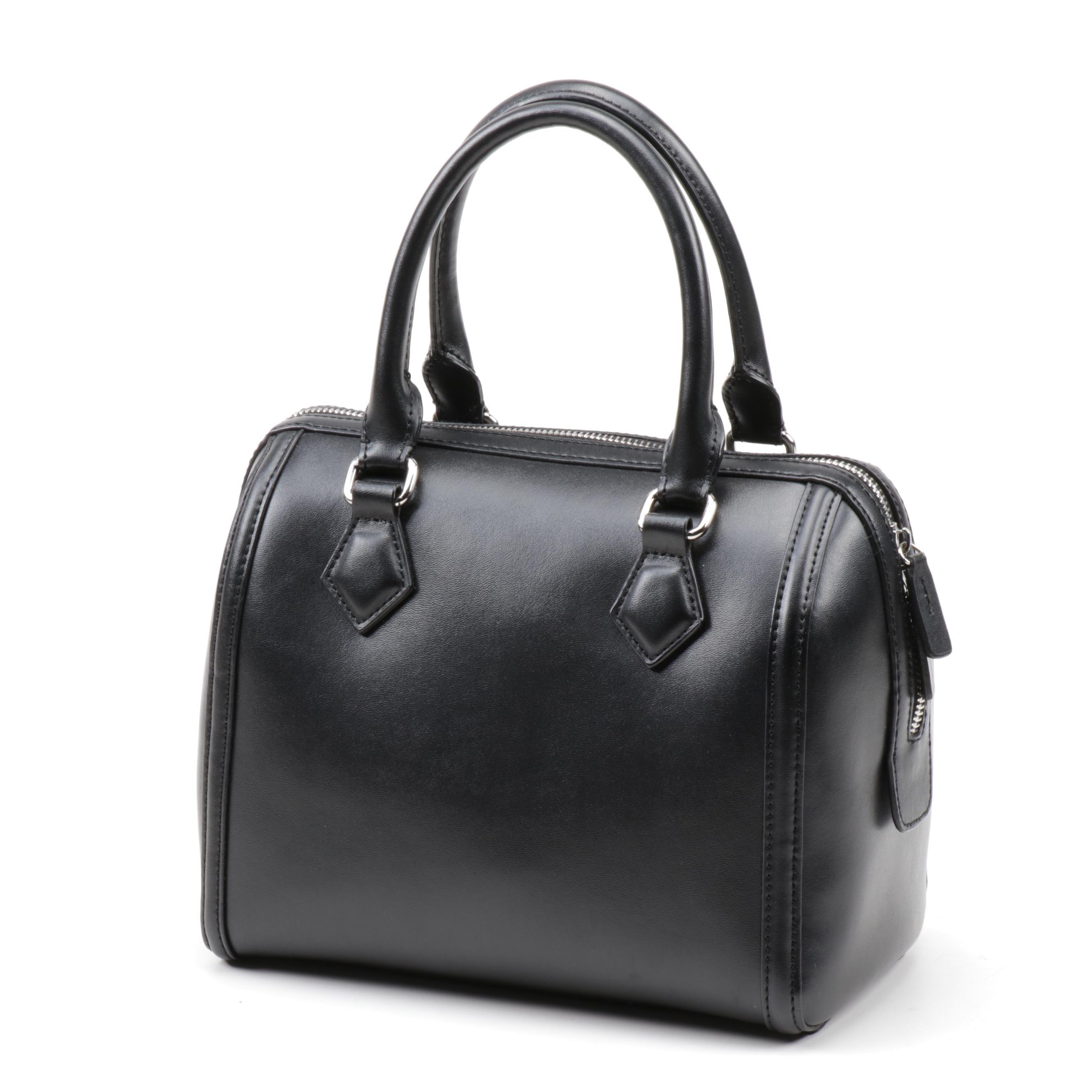 Charles Jourdan Black Leather Satchel