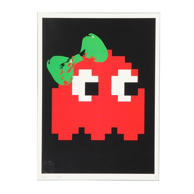 """Death NYC Graphic Print """"Invade Red Green"""""""