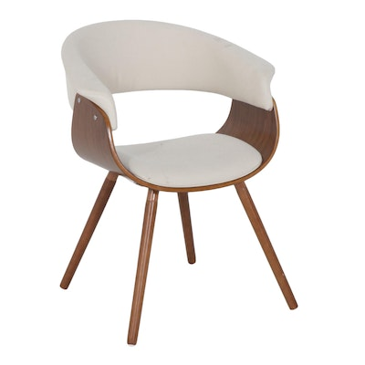 Mid Century Modern Style Upholstered Plywood Armchair