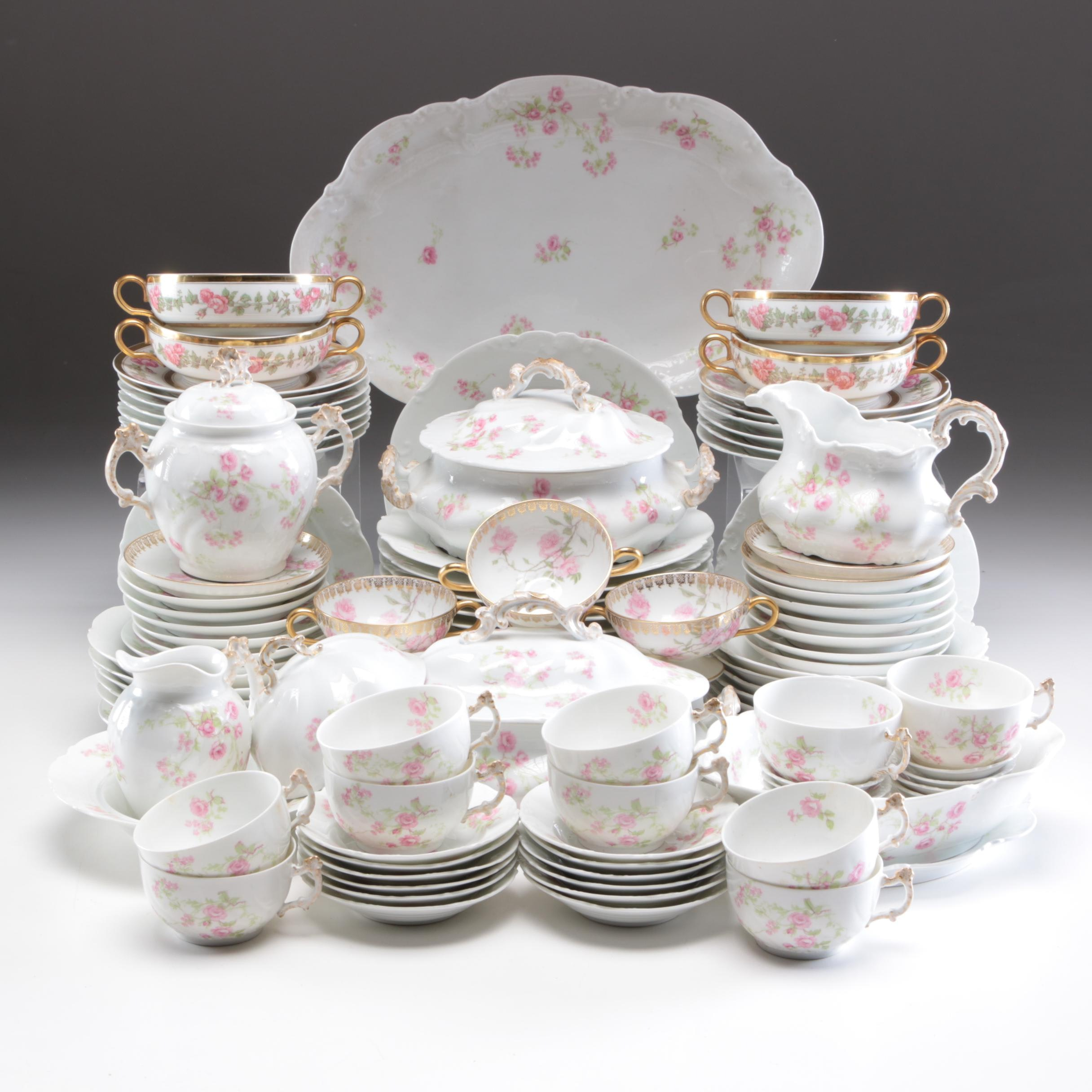 R. Delinières, Haviland and Other Porcelain Dinnerware, Early 20th Century