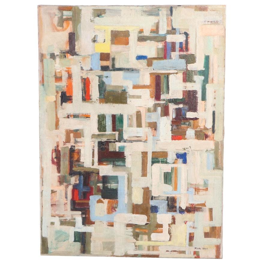 Kiichi Usui Abstract Oil Painting