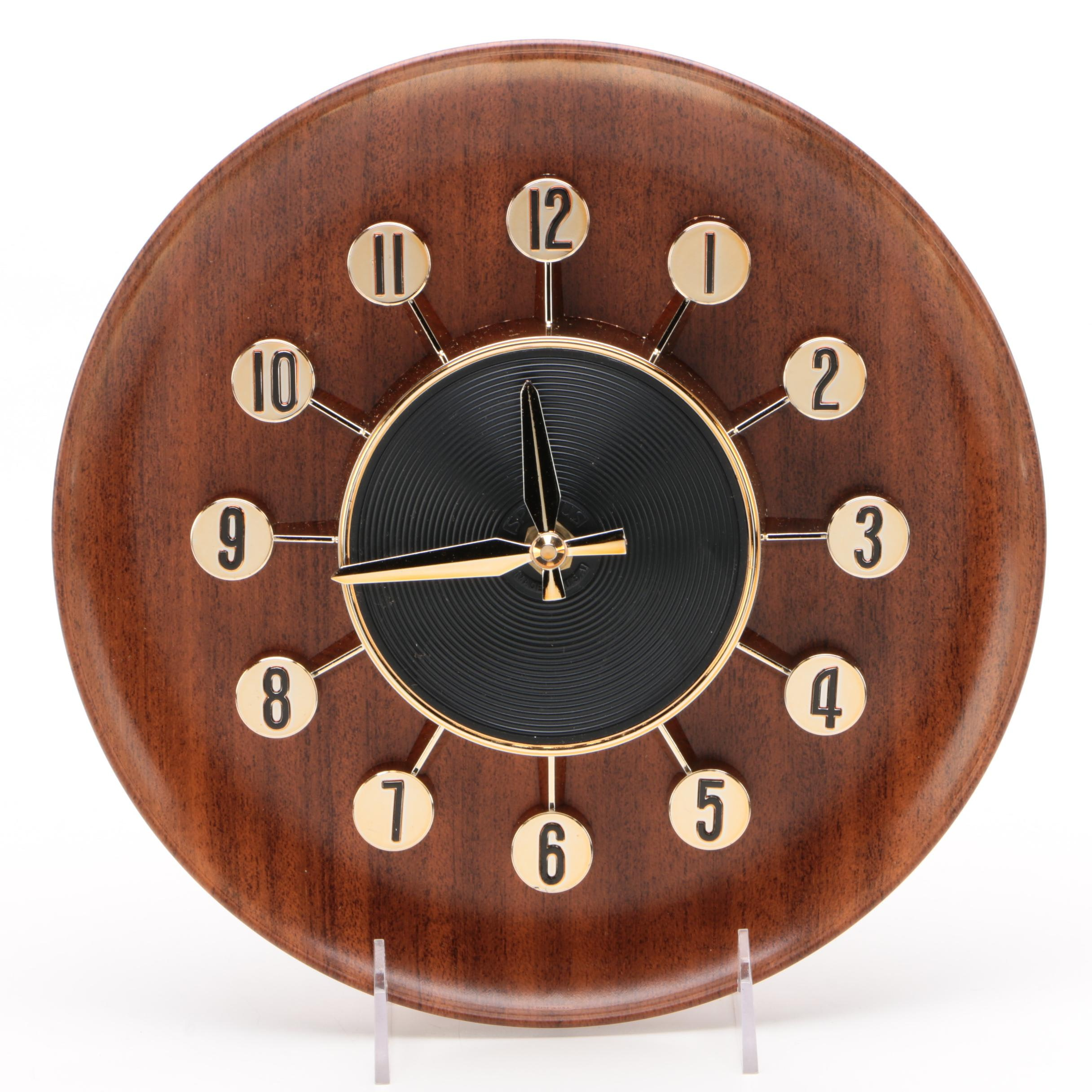 Spartus King Electric Wall Clock, Mid-Century
