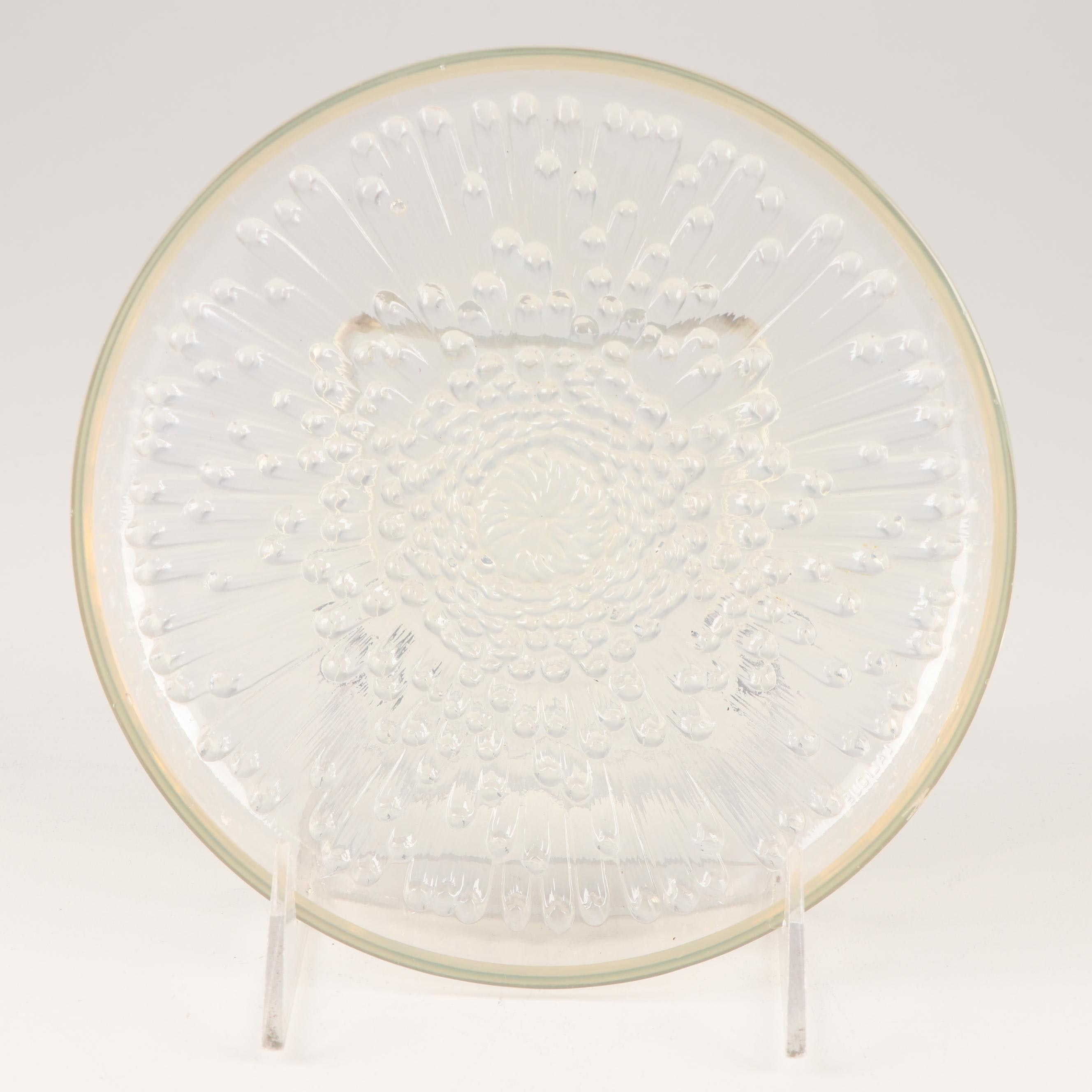 Lalique Crystal Plate, Late 20th Century