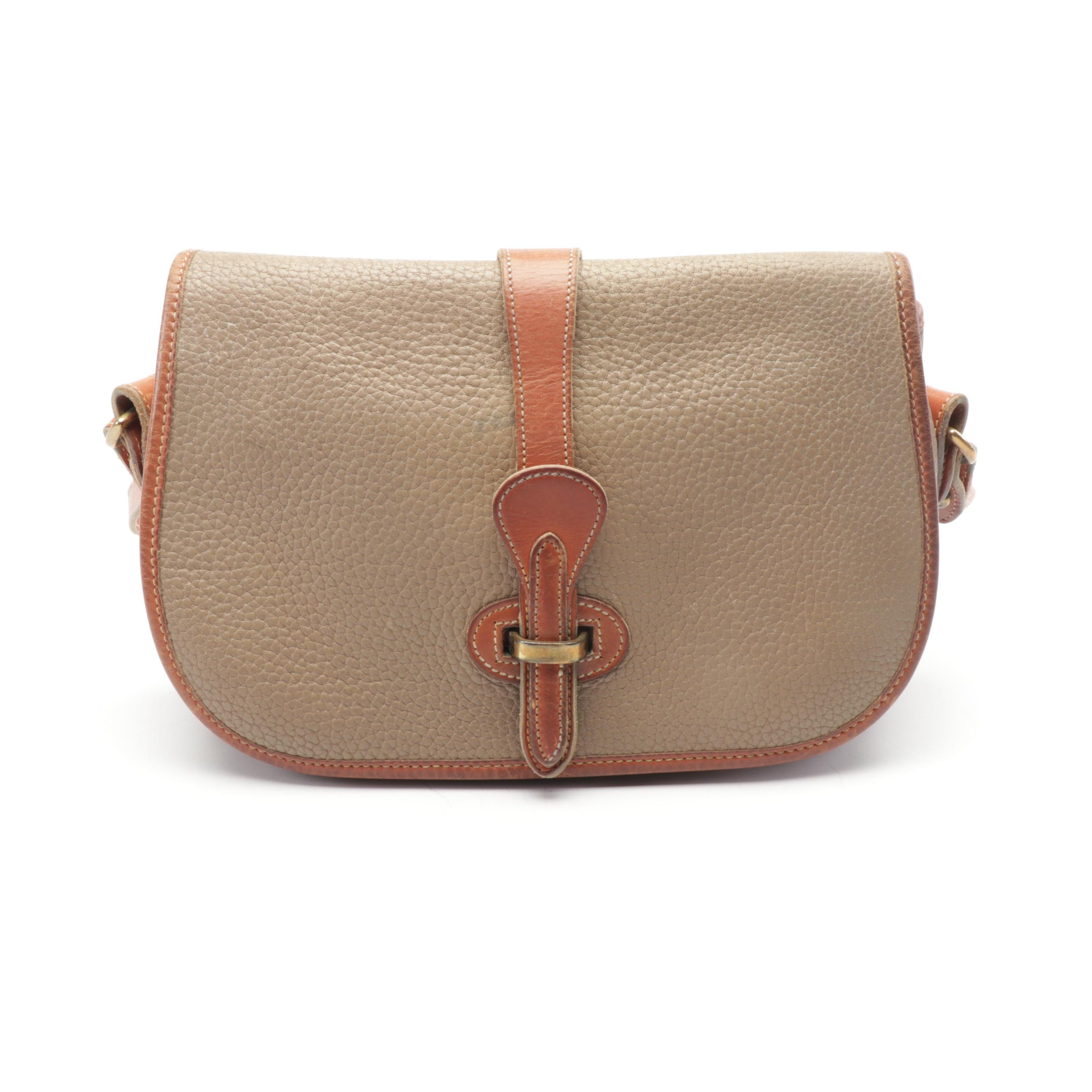 Dooney & Bourke All-Weather Leather Crossbody Saddle Bag, Vintage
