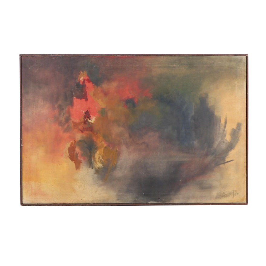 1960 Abstract Oil Painting