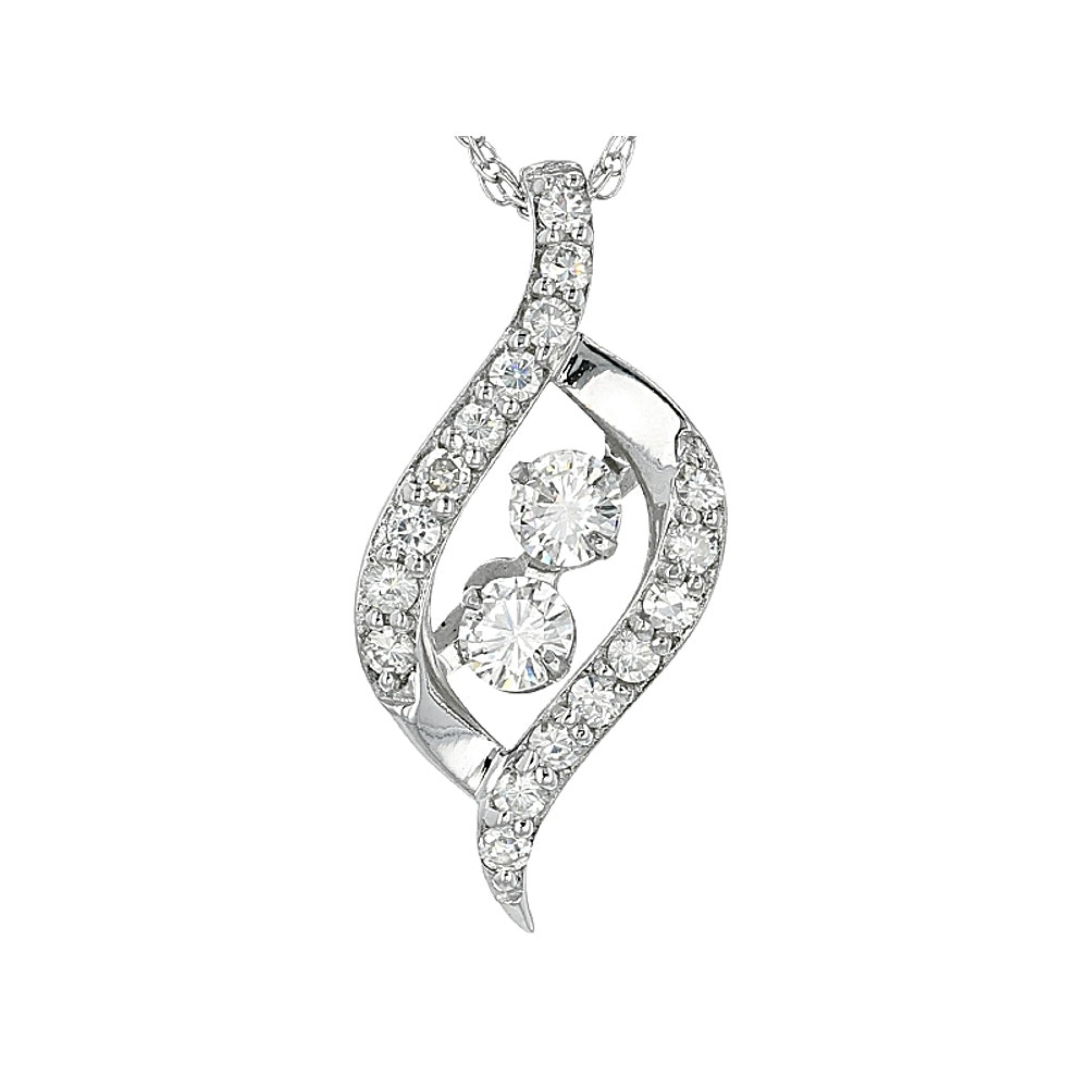 Moissanite Sterling Silver Pendant with Chain