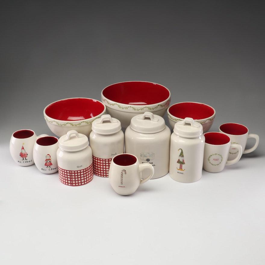 Rae Dunn Christmas Bowls.Rae Dunn Artisan Collection By Magenta Christmas Dishes