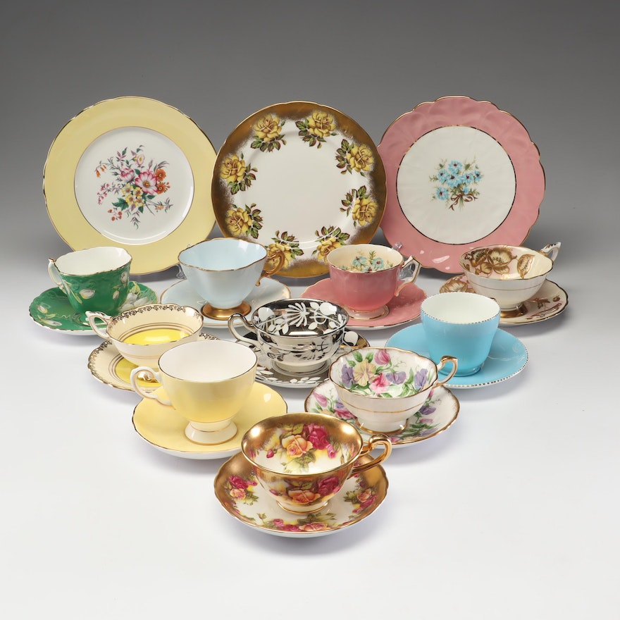 Collection of English Bone China Tea Settings