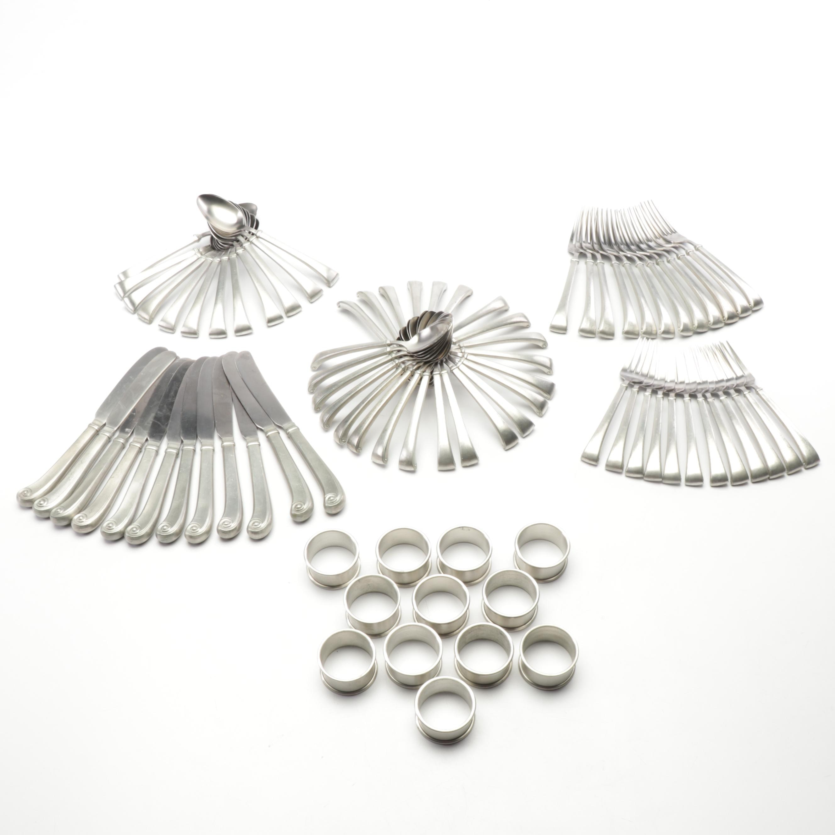 International Pewter Flatware and Napkin Bands