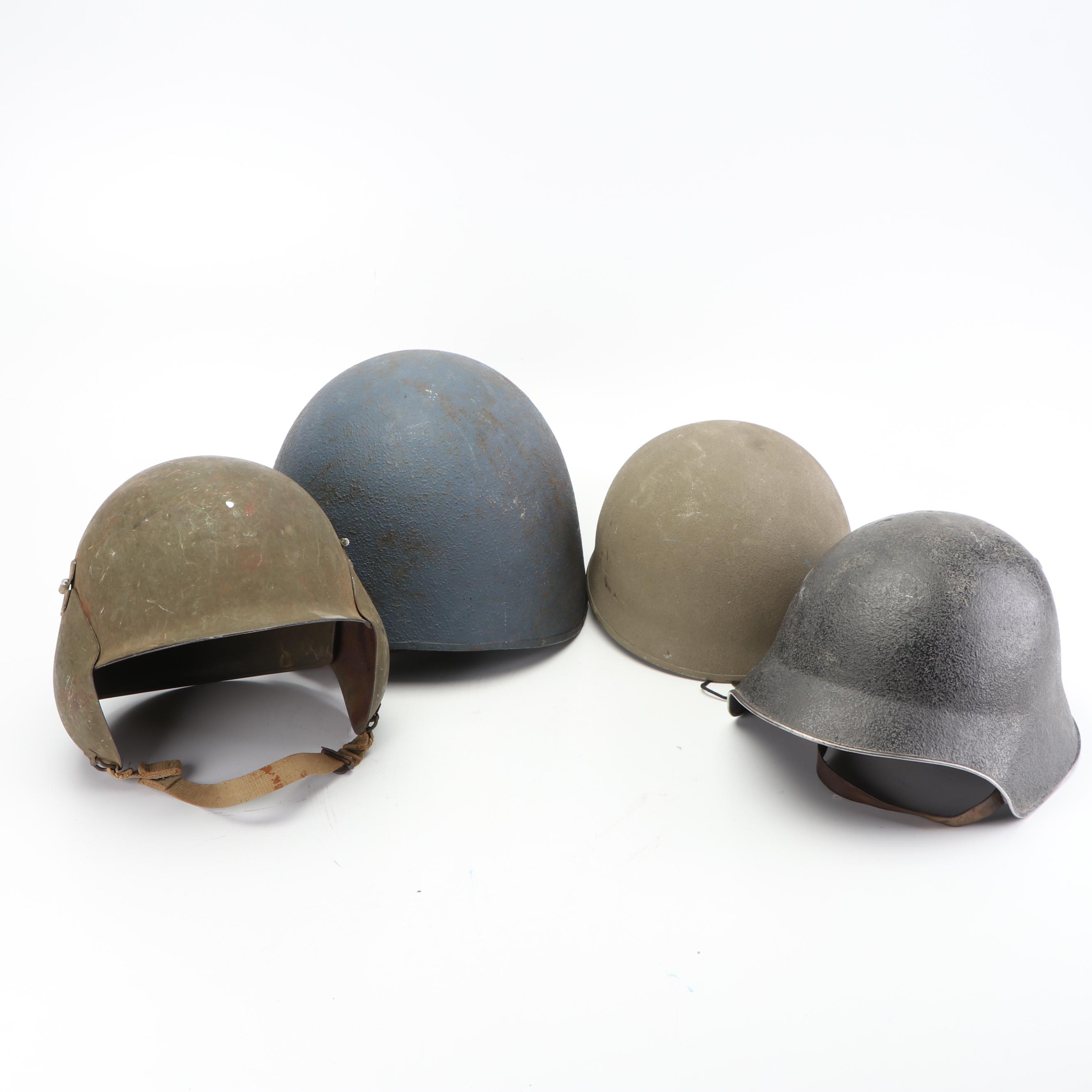 Assorted Military Hard Shell Field Helmets
