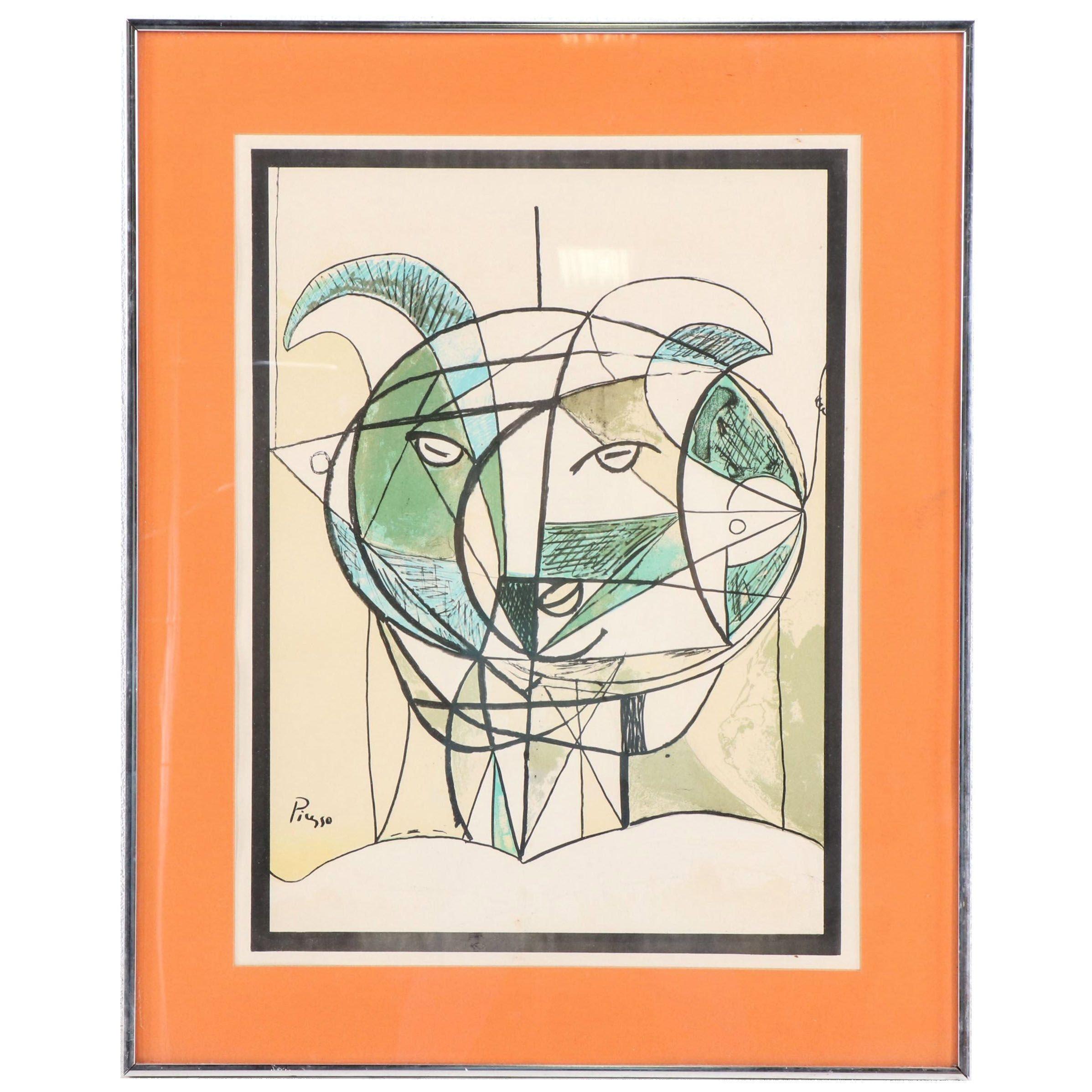 Color Lithograph after Pablo Picasso