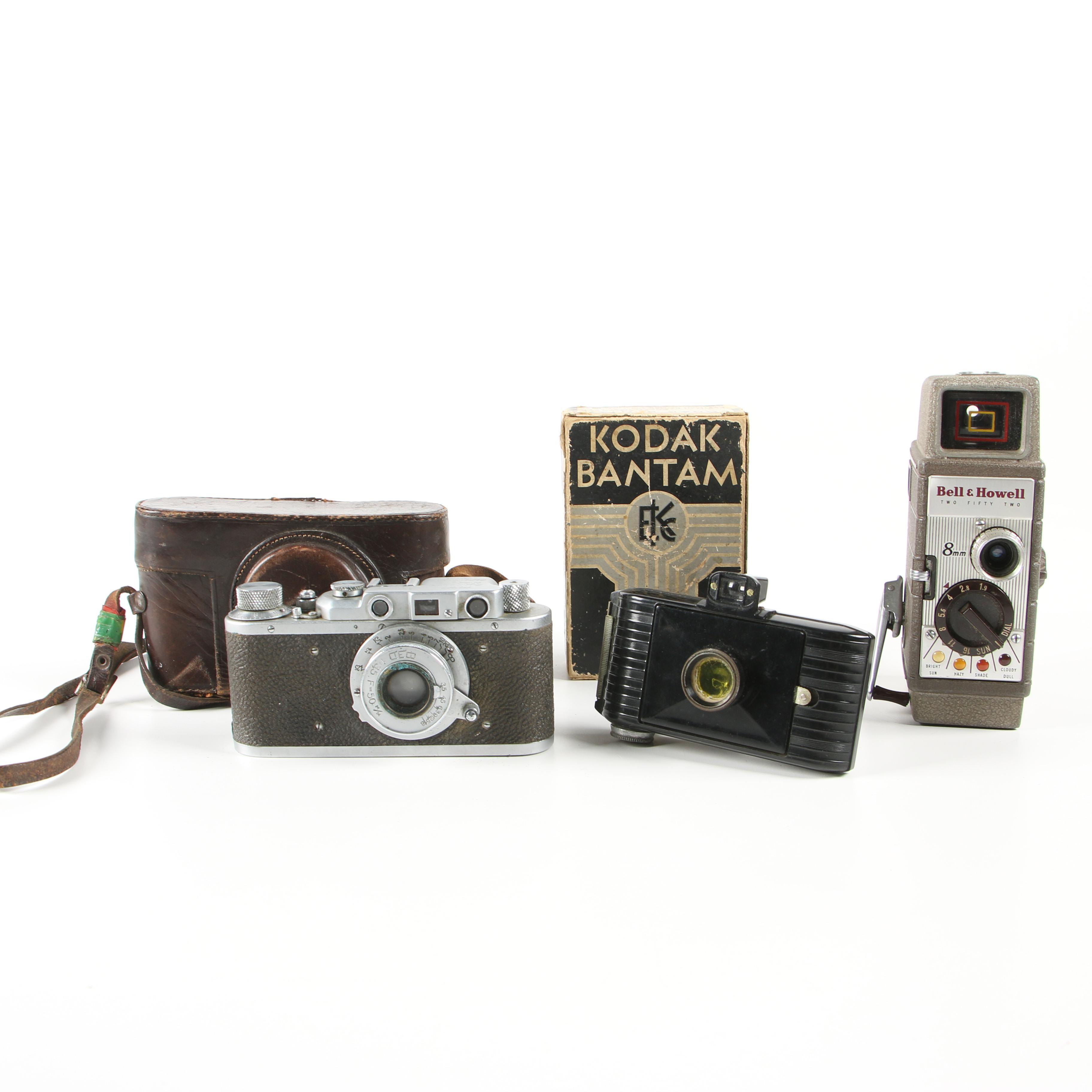 Kodak, Bell & Howell and Xapbkob Vintage Cameras