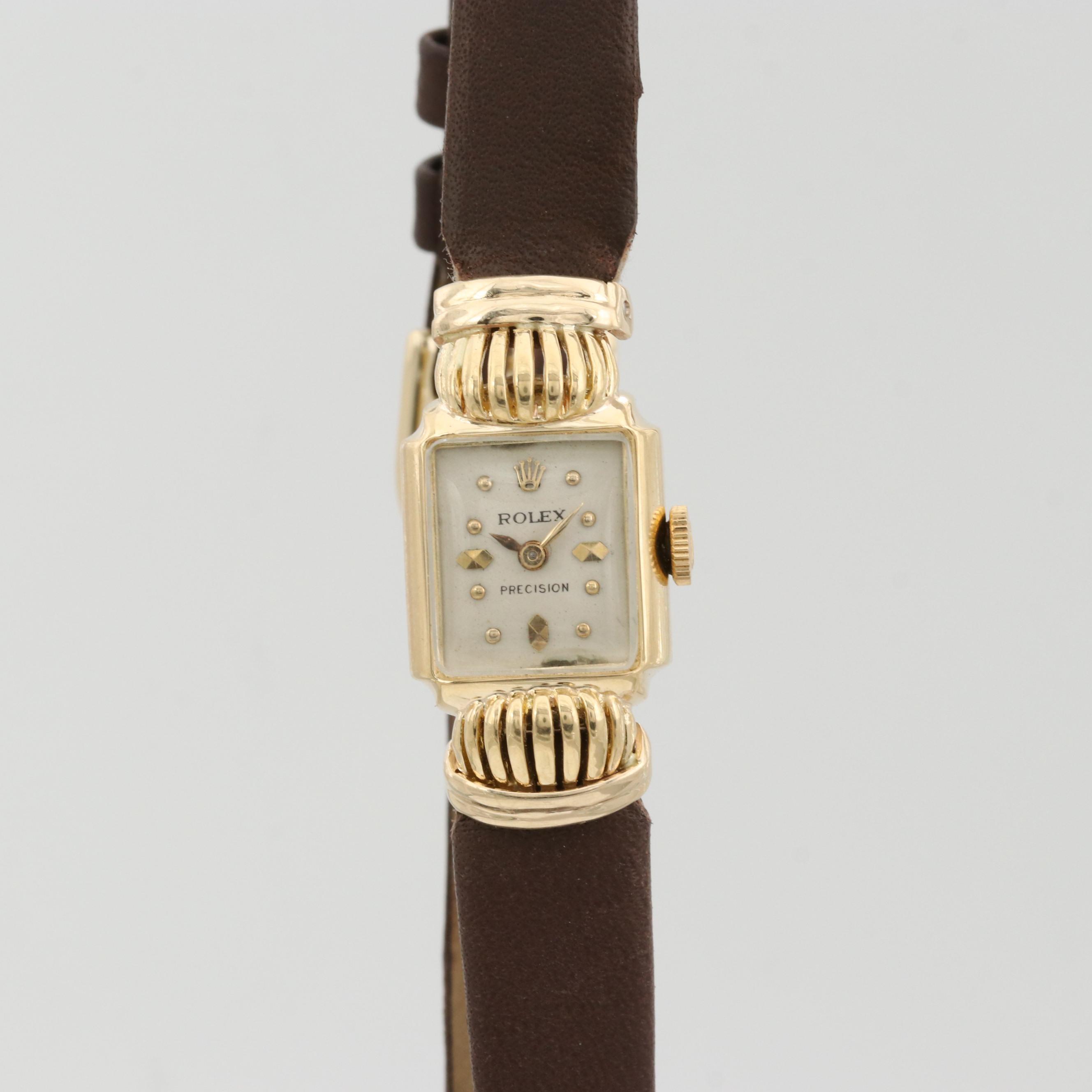 Vintage Rolex 18K Yellow Gold Fancy Lug Cocktail Watch
