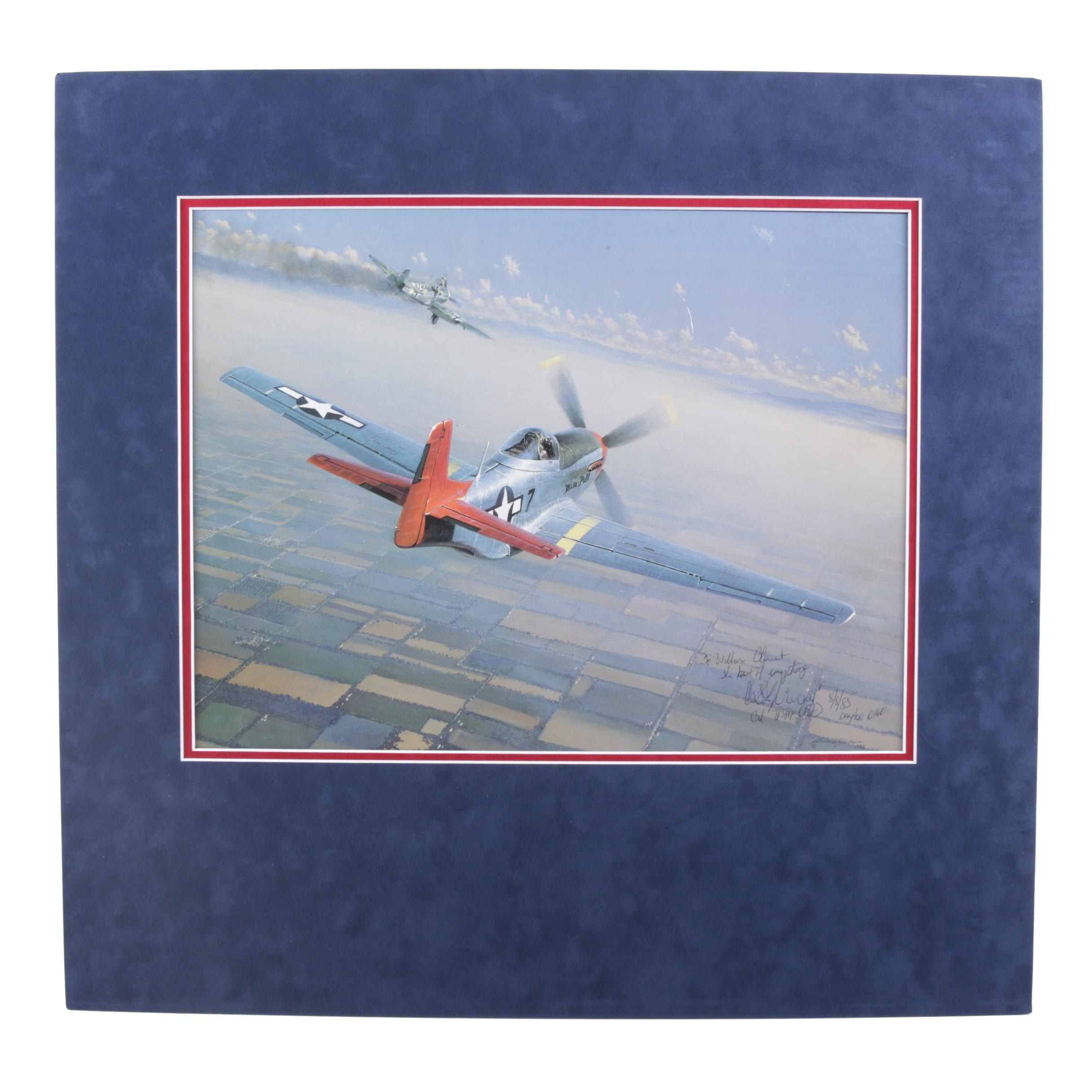 William S. Phillips Offset Lithograph of Tuskegee Airman, Signed by Pilot