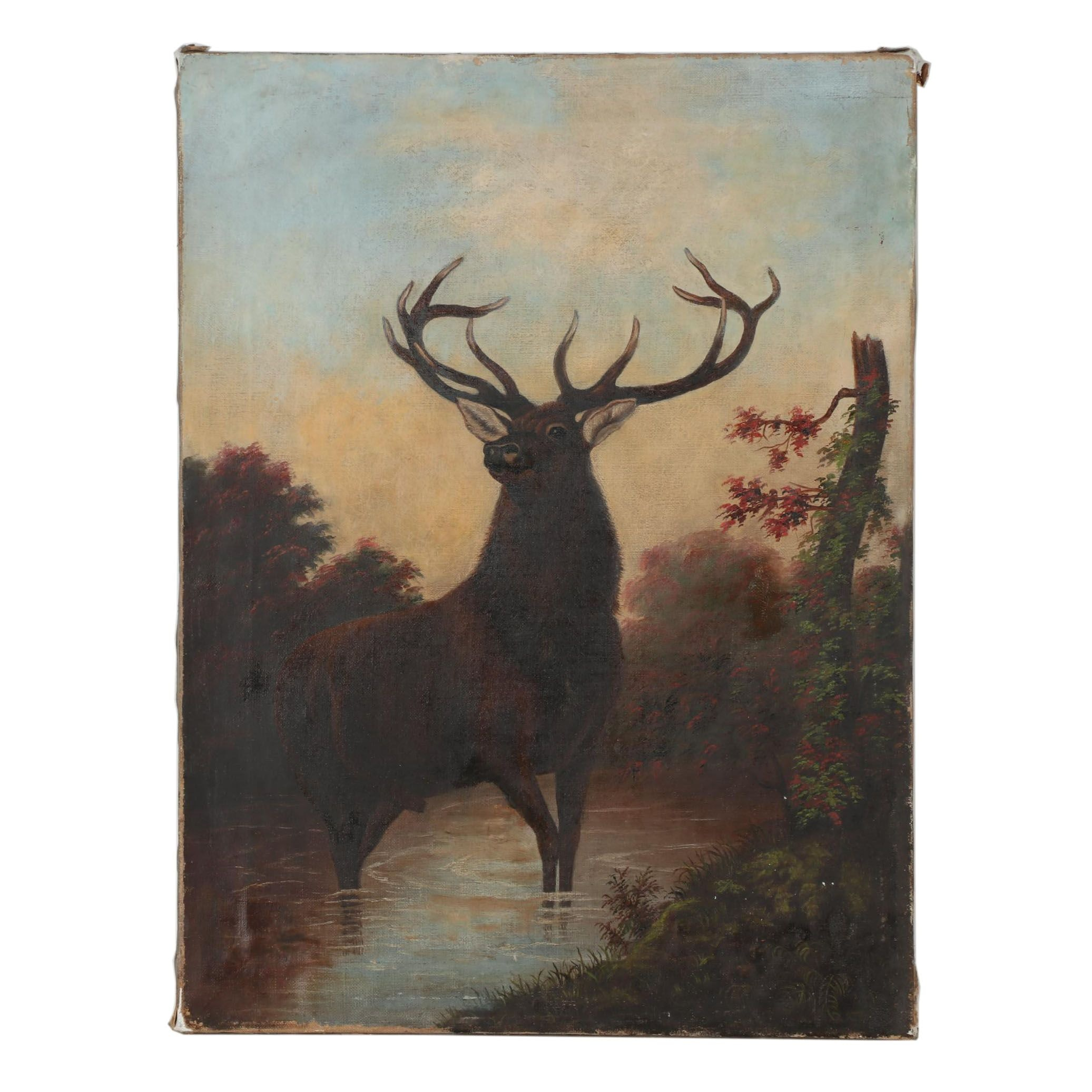 """Early 20th Century Oil Painting after Edwin Landseer """"The Monarch of the Glen"""""""