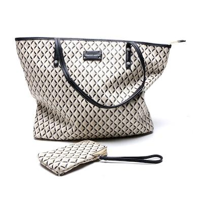 Franco Sarto Geometric Print Tote Bag with Matching Wristlet
