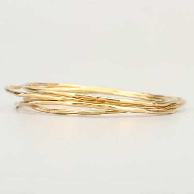 Ippolita 18K Yellow Gold Bangle Bracelets