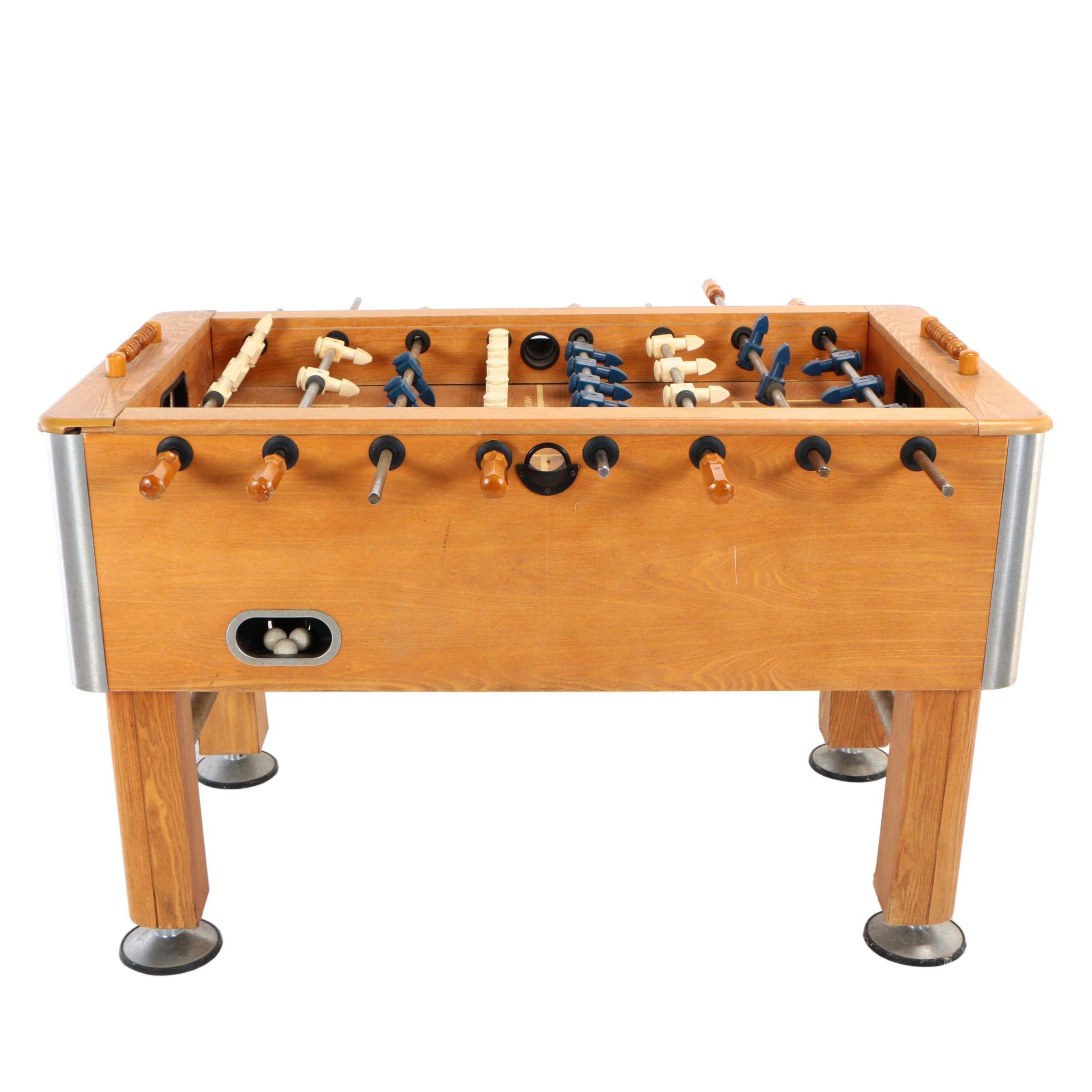 Vintage Harvard Oak Foosball Table