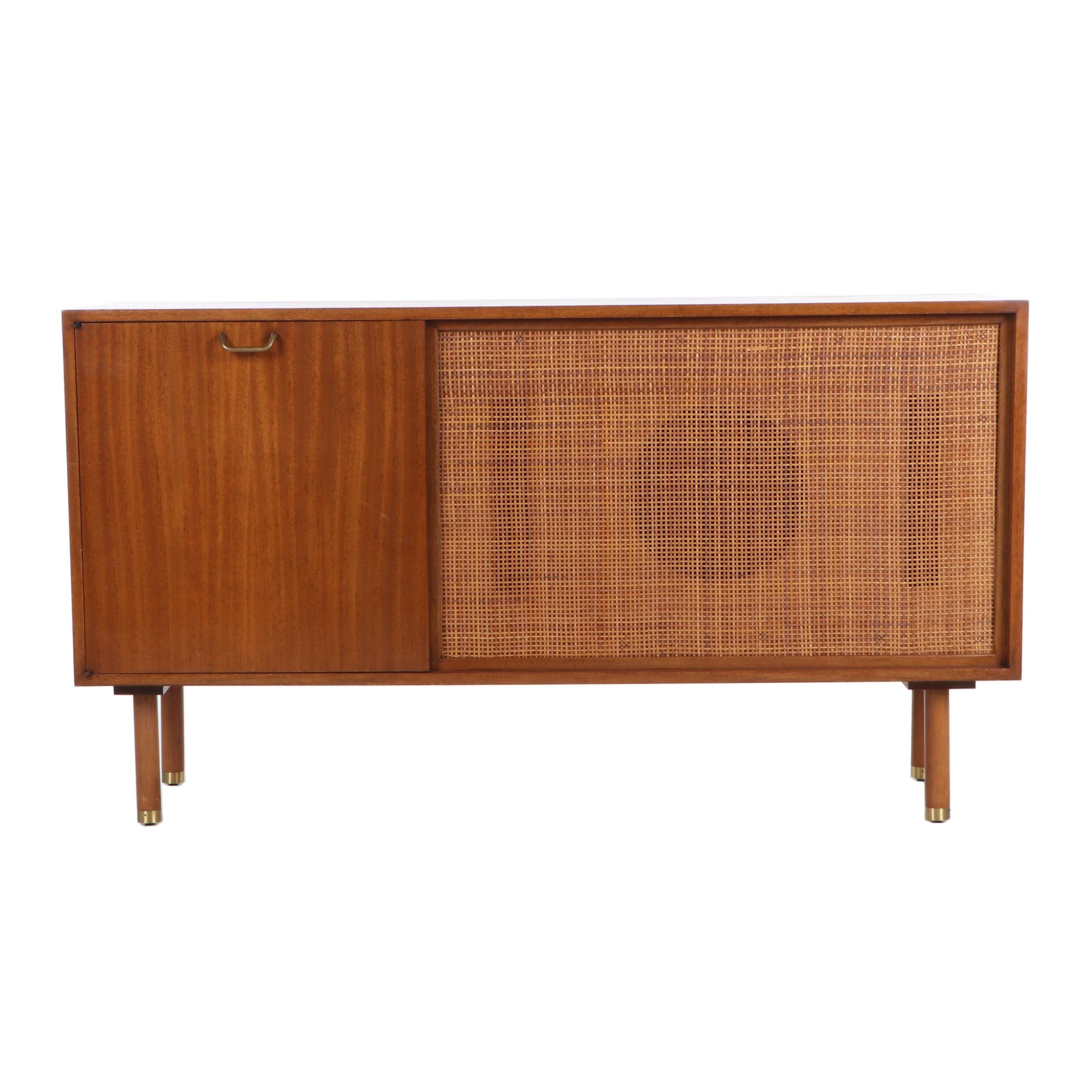 Mid Century Modern Mahogany Converted Record Console Cabinet